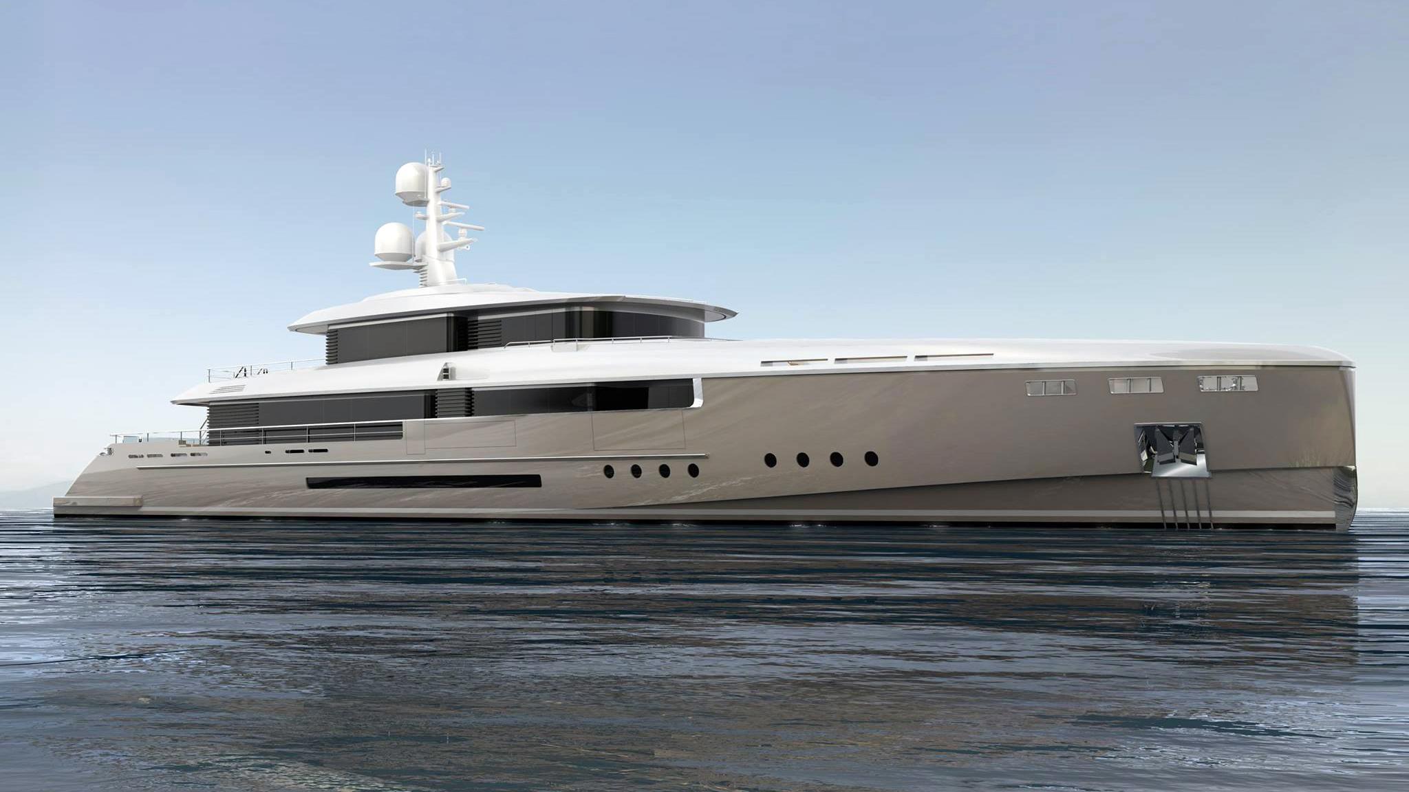 endeavour ii motoryacht rossinavi 50m 2017 rendering