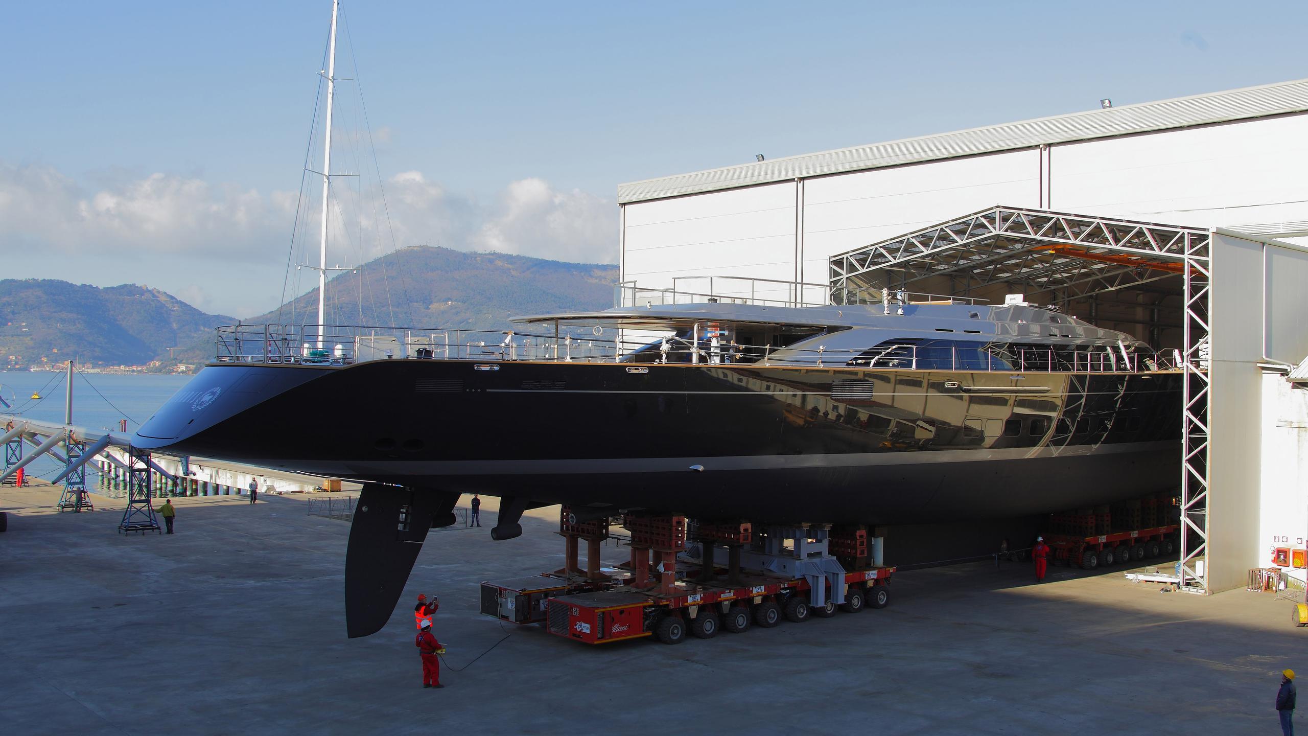 sybaris sailing yacht perini navi 2016 70m launch stern