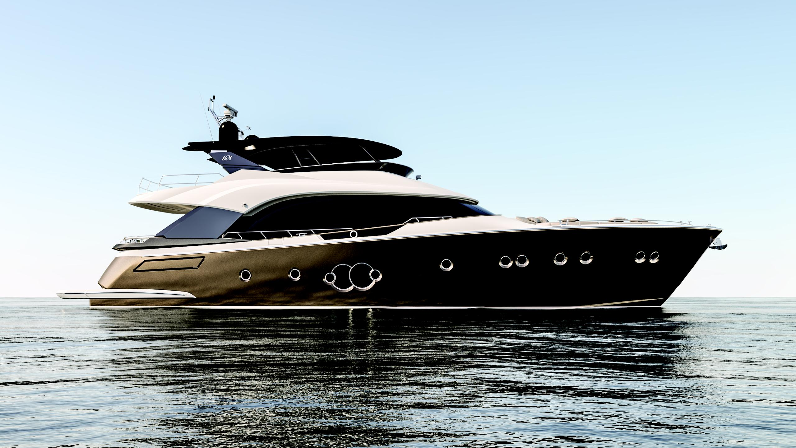 mcy 80 motoryacht monte carlo yachts 2016 24m profile rendering