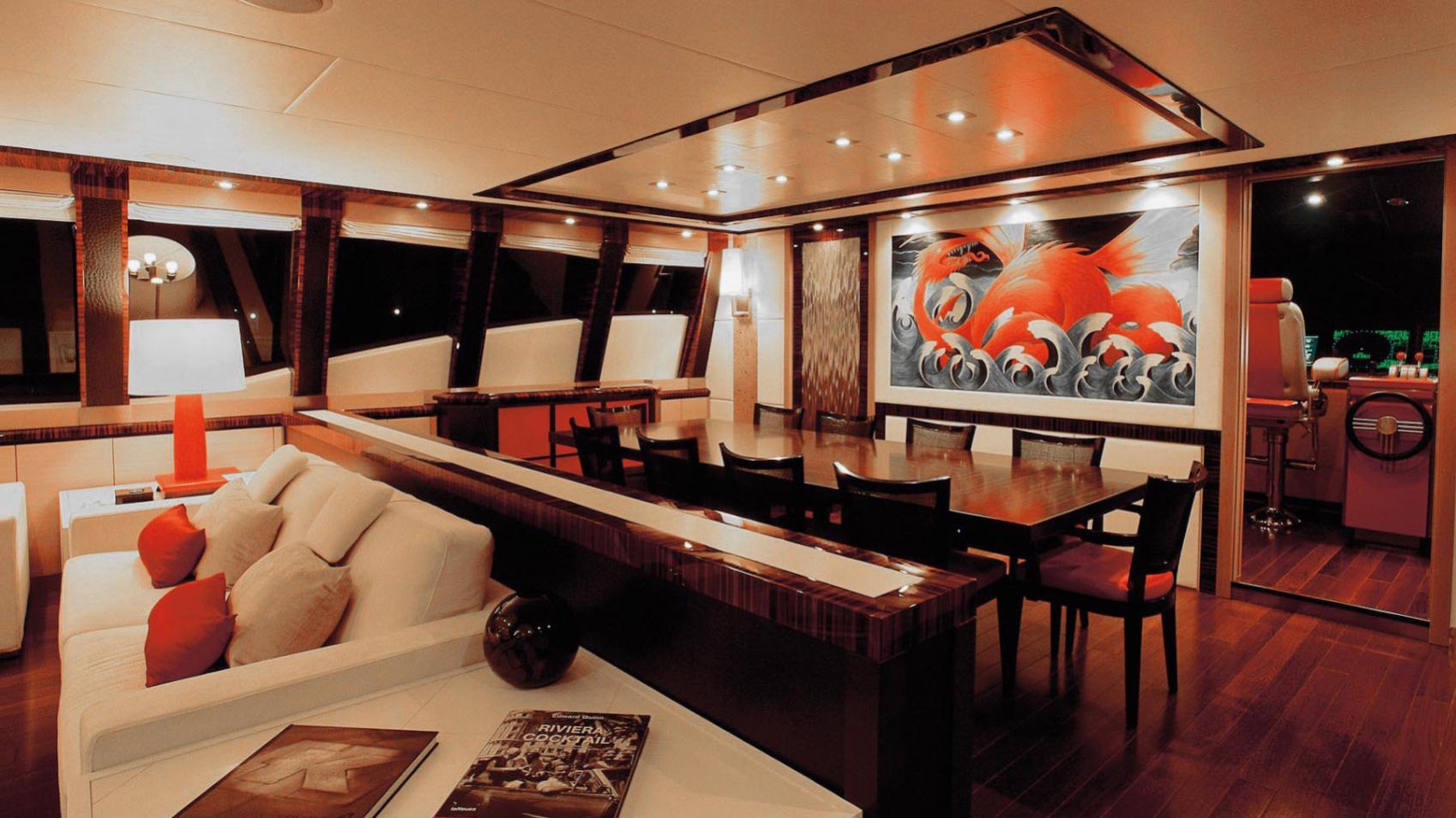 Dragon motor yacht for sale: interior