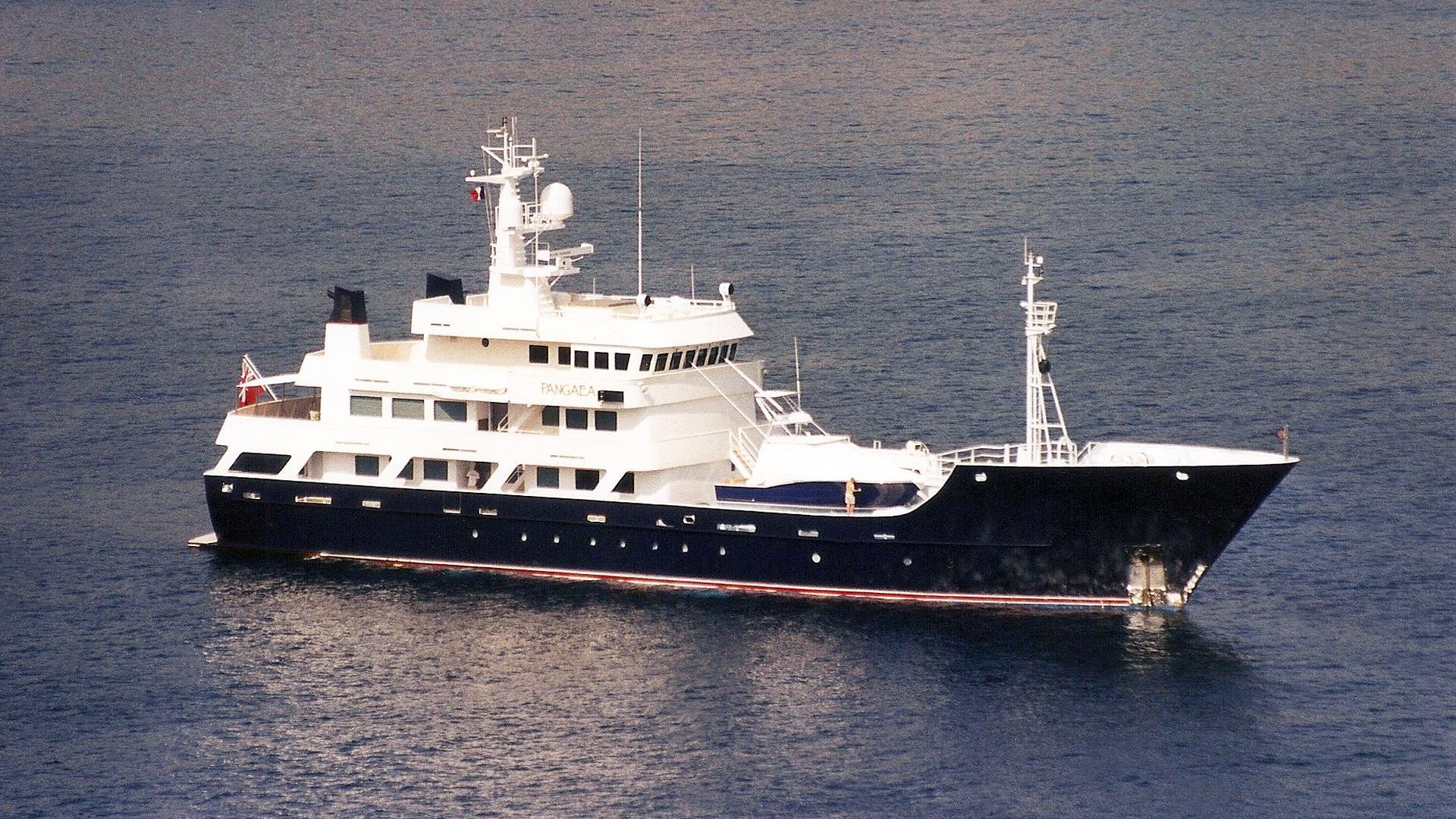 pangaea explorer yacht halter 1999 58m half profile before refit