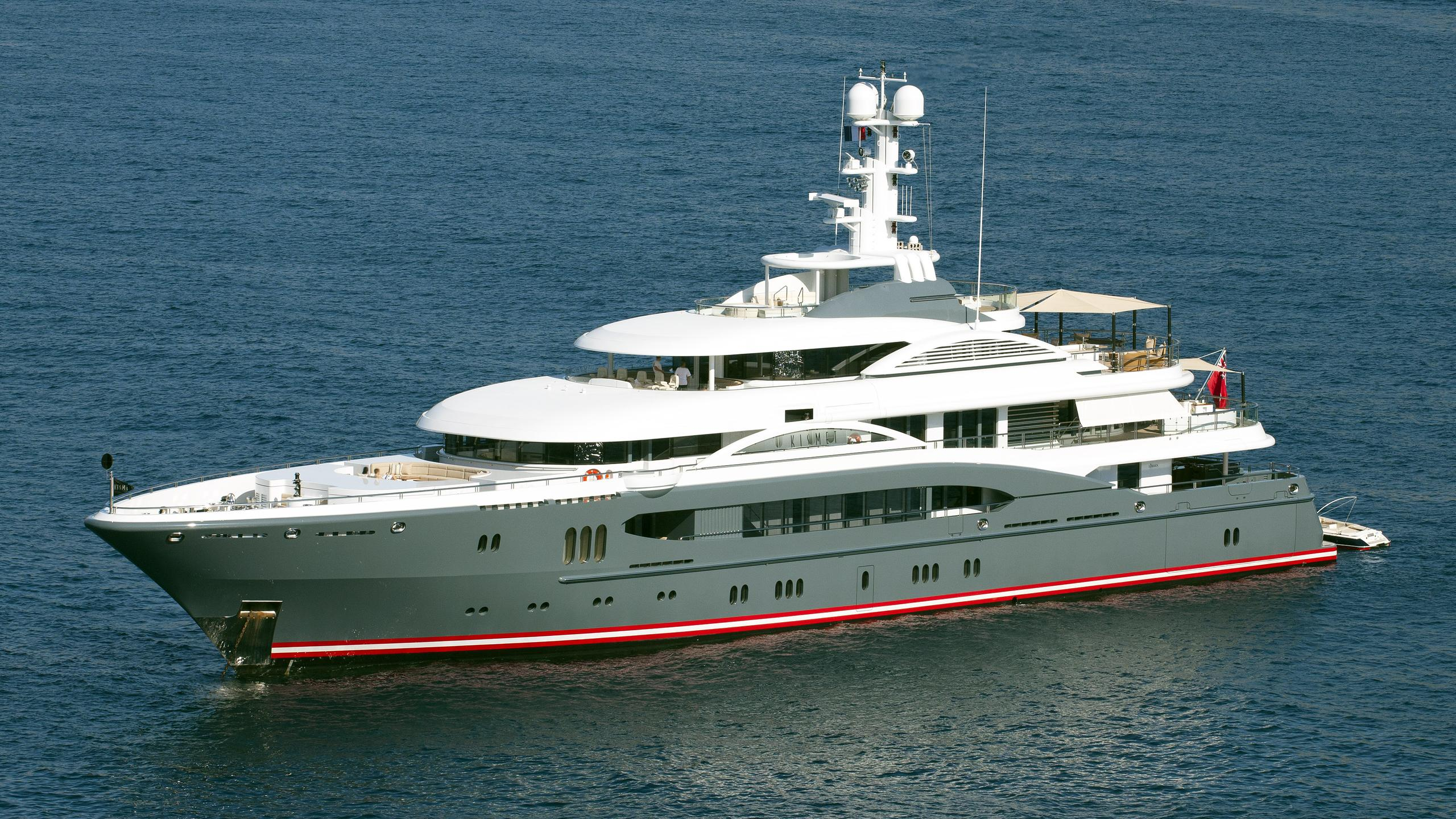 global kismet motor yacht lurssen 2007 74m half profile before refit