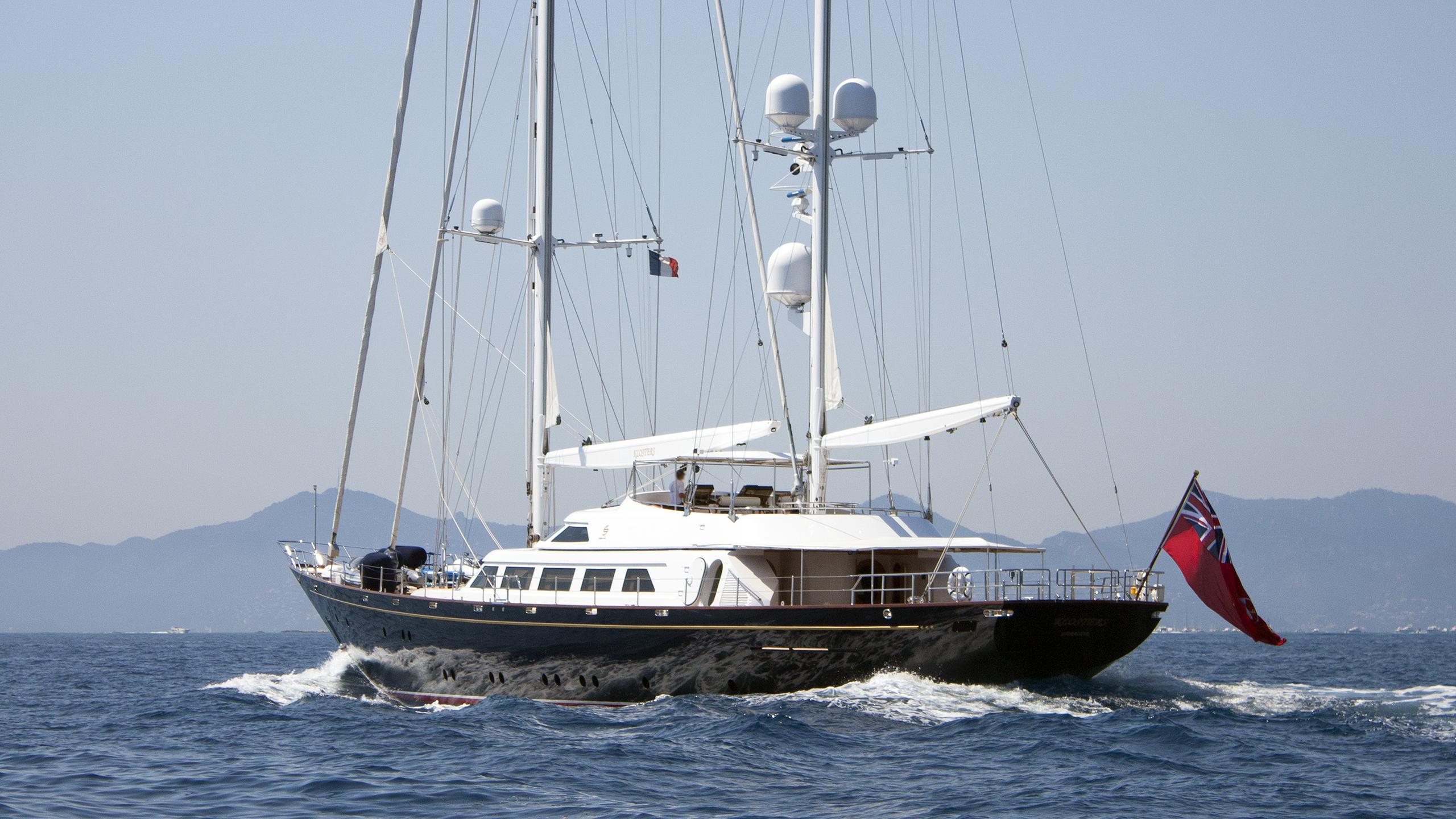 the aquarius sailing yacht perini navi 1990 46m half stern