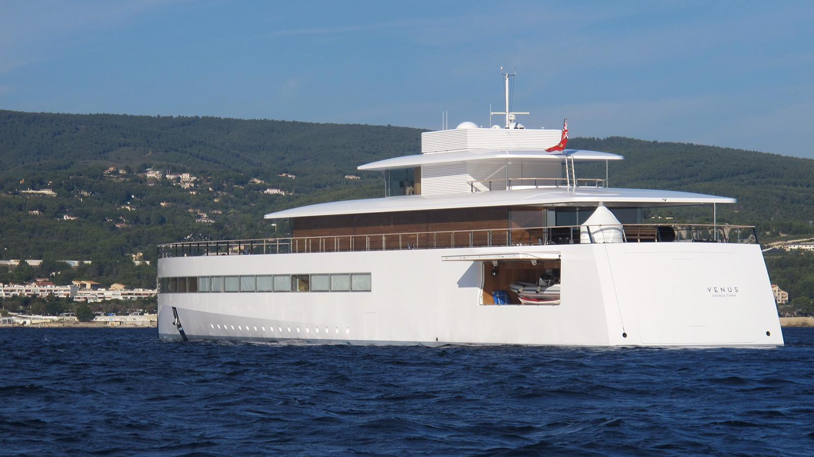 Steve Jobs superyacht Venus garage
