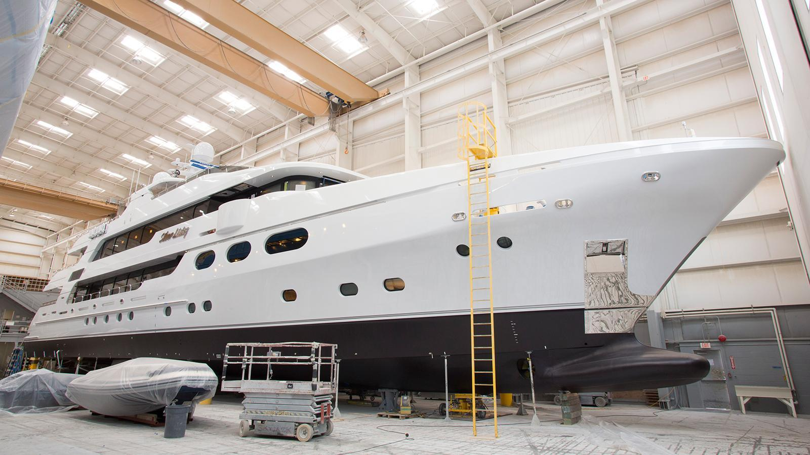 silver lining motoryacht christensen 2017 50m under construction
