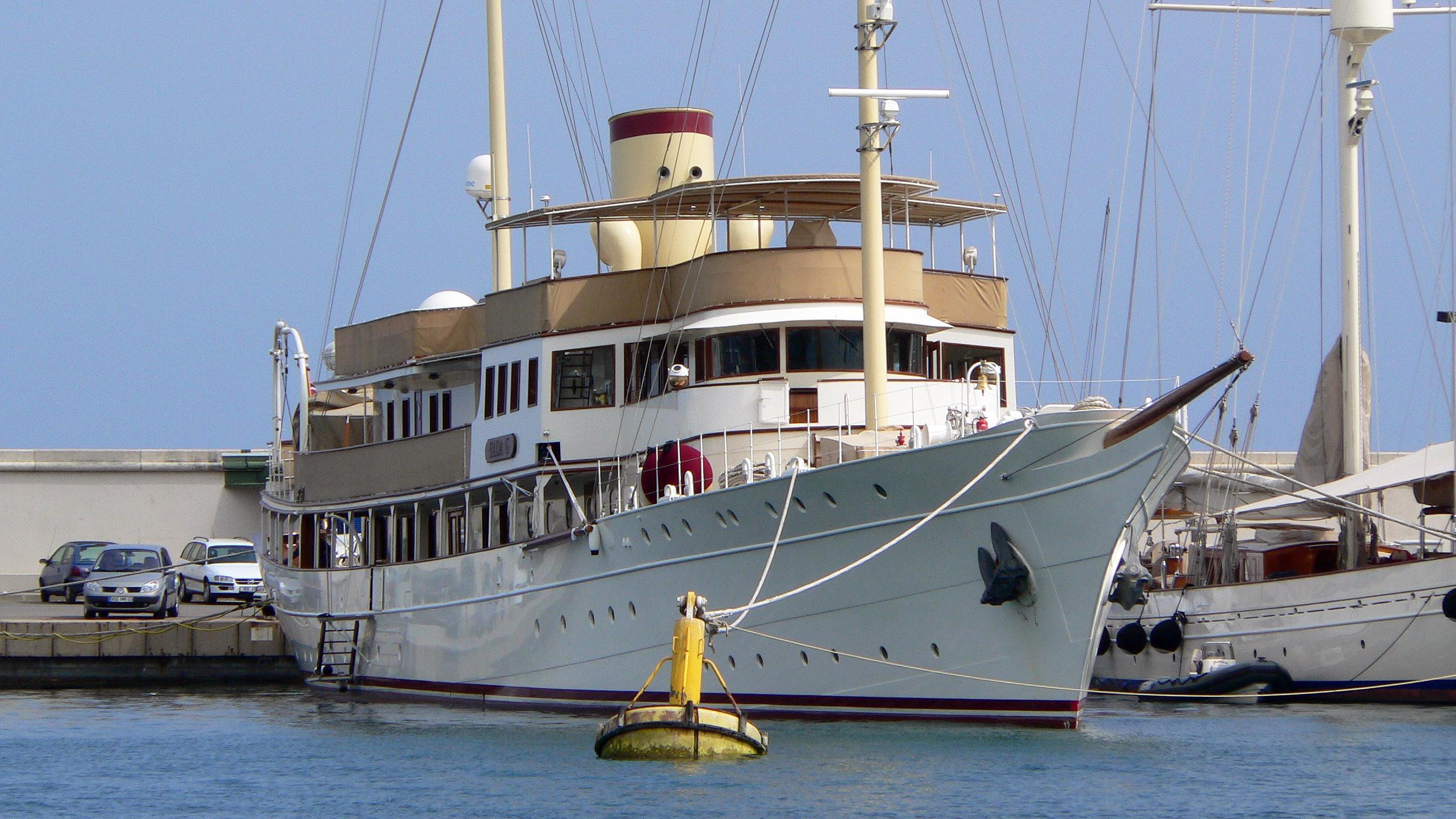 haida-1929-dona-amelia-motor-yacht-krupp-germaniawerft-1929-71m-bow