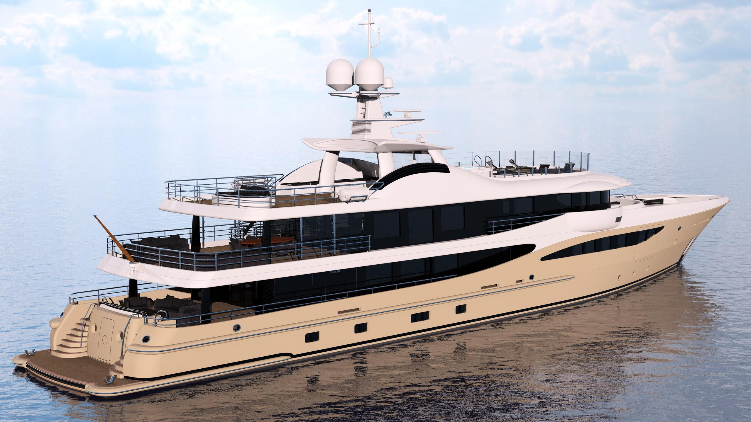 lili motoryacht amels le180 55m 2017 half stern rendering