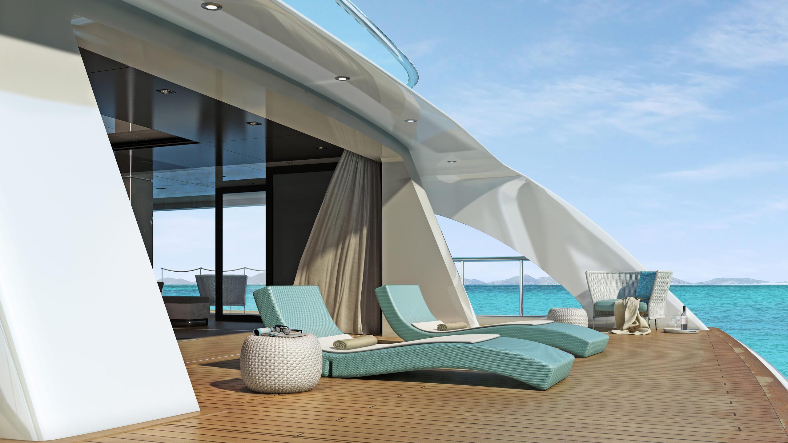 go motoryacht turquoise yachts nb63 77m 2018 rendering beachclub