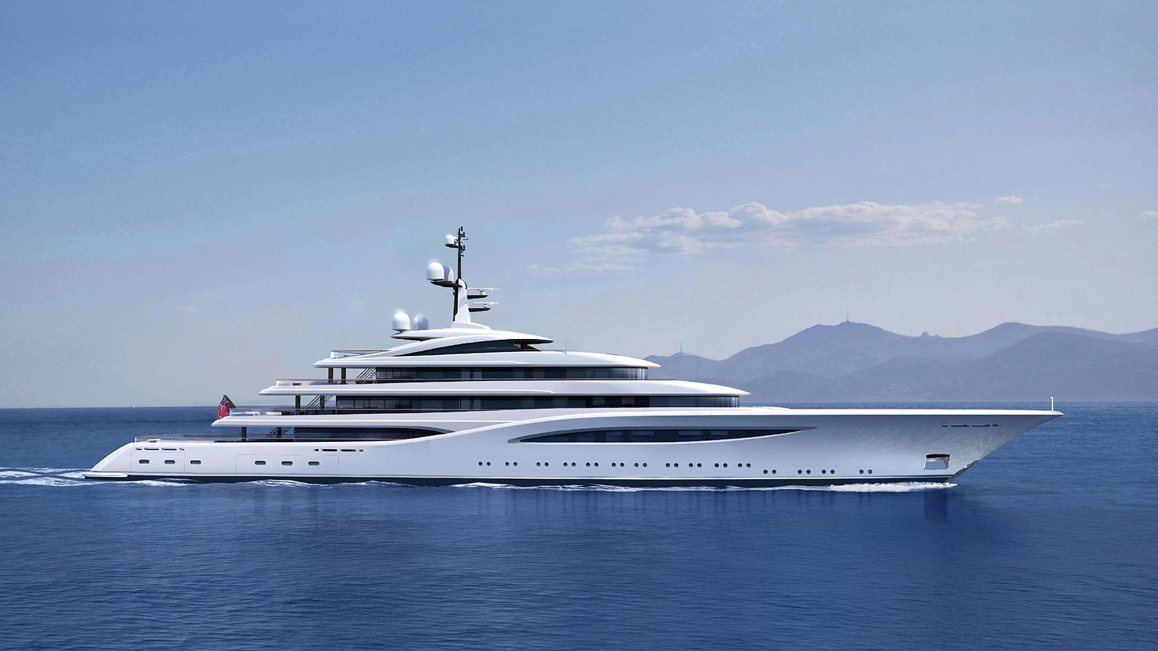 vertigo motoryacht feadship 2017 97m rendering profile cruising