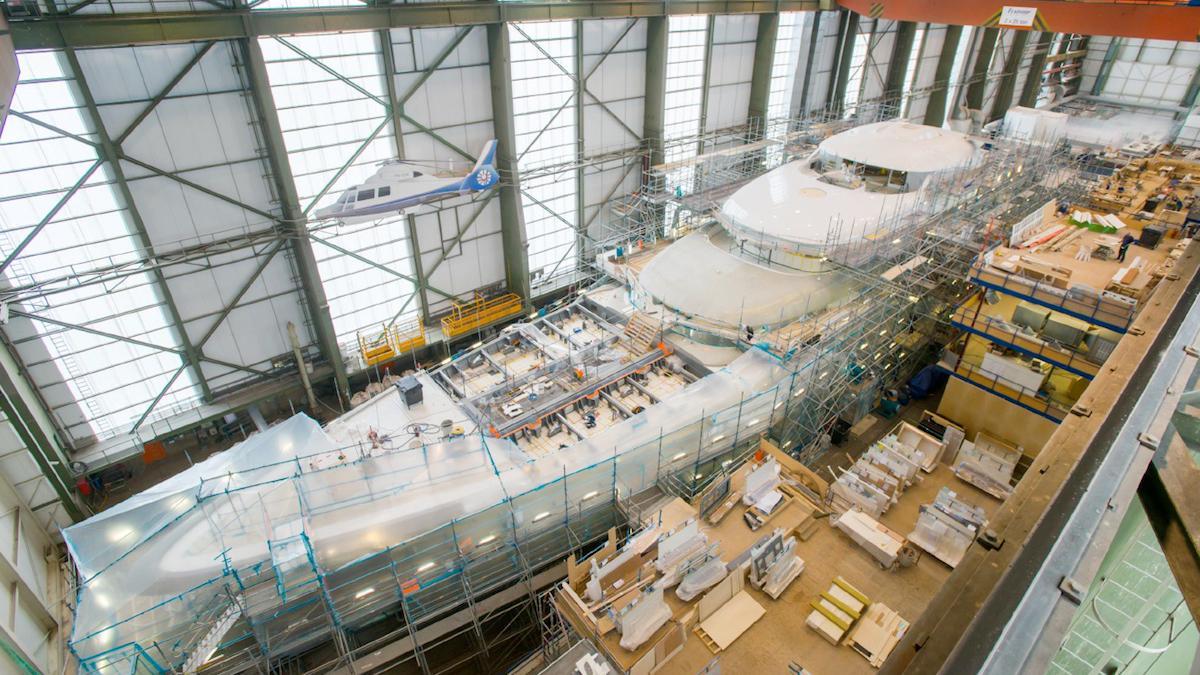 vertigo motoryacht feadship 2017 97m construction aerial