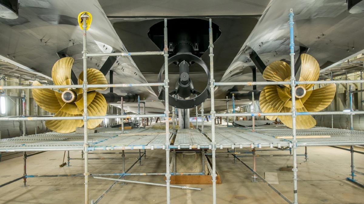 vertigo motoryacht feadship 2017 97m construction propellers