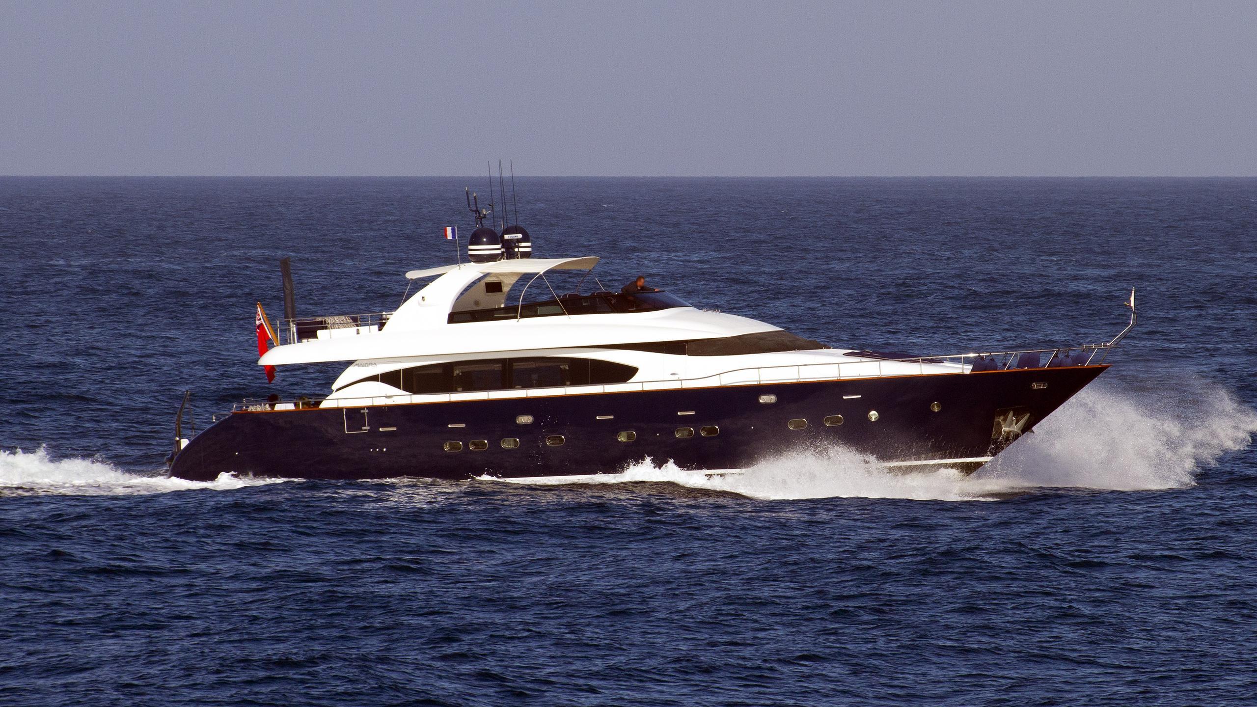 asha-motor-yacht-Maiora-27-2006-27m-running-profile