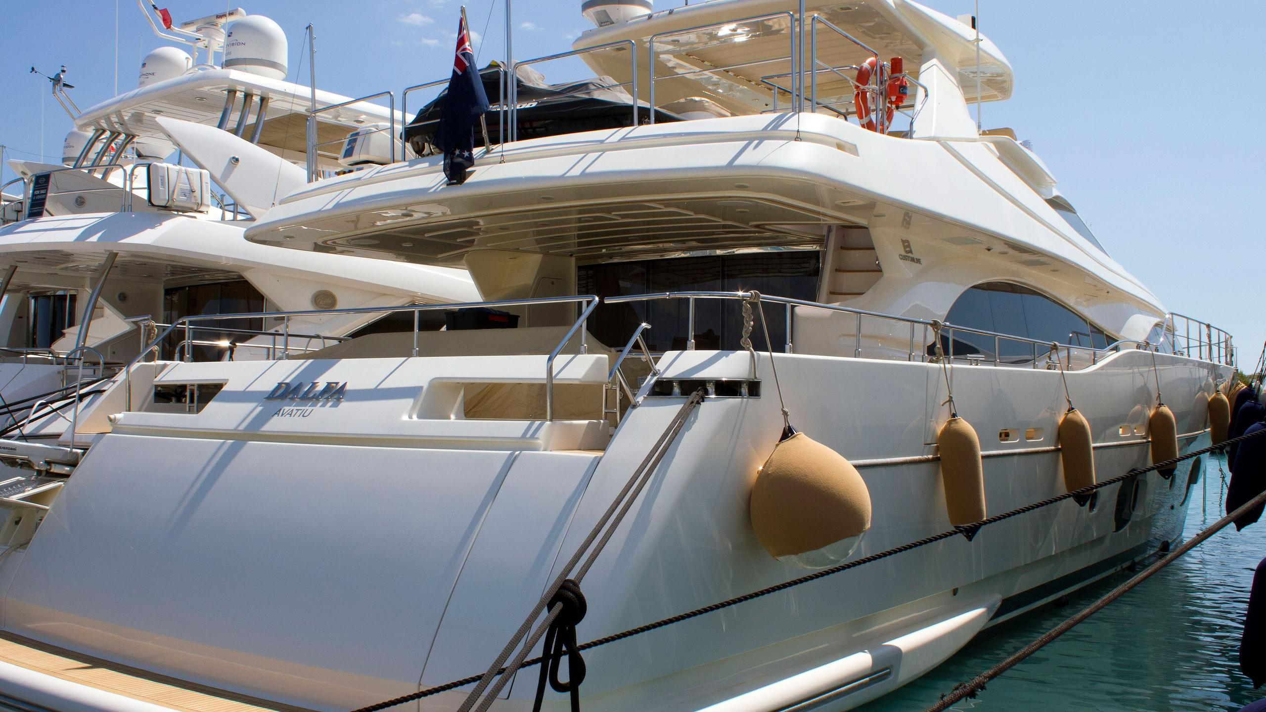 the capital dalfa motor yacht custom line 97 ferretti 2008 29m moored stern