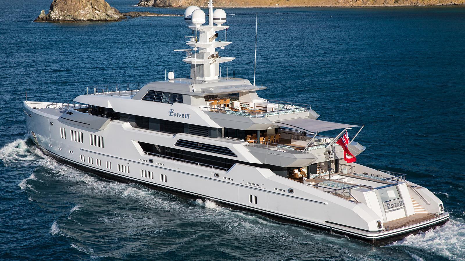 iroquois ester iii motor yacht lurssen 2014 66m cruising profile stern