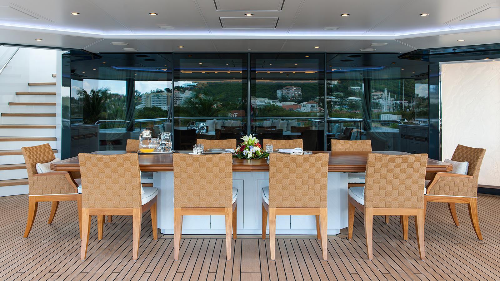 iroquois ester iii motor yacht lurssen 2014 66m dining deck