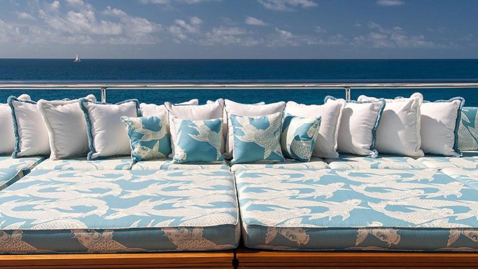 iroquois ester iii motor yacht lurssen 2014 66m deck sun beds