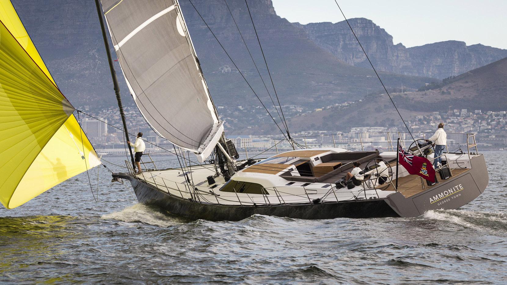 ammonite sailing yacht sws 2016 25m running half stern