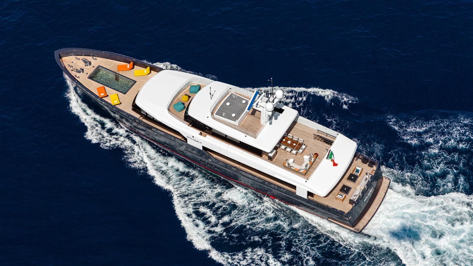 forever logica 147 motor yacht 2014 45m aerial
