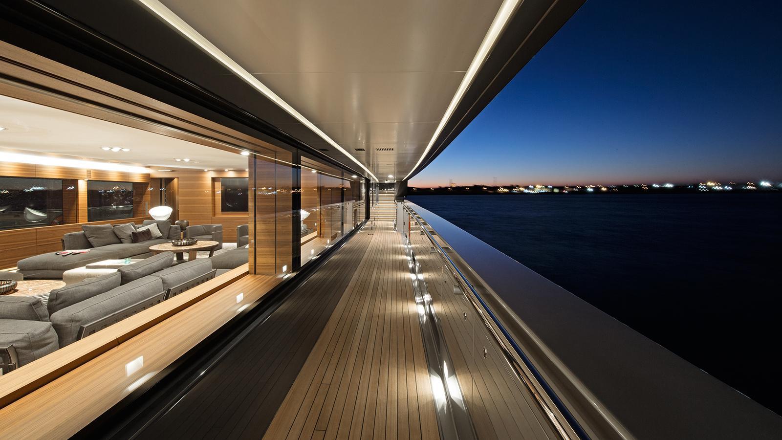 silver-fast-motor-yacht-2015-77m-side-deck-night