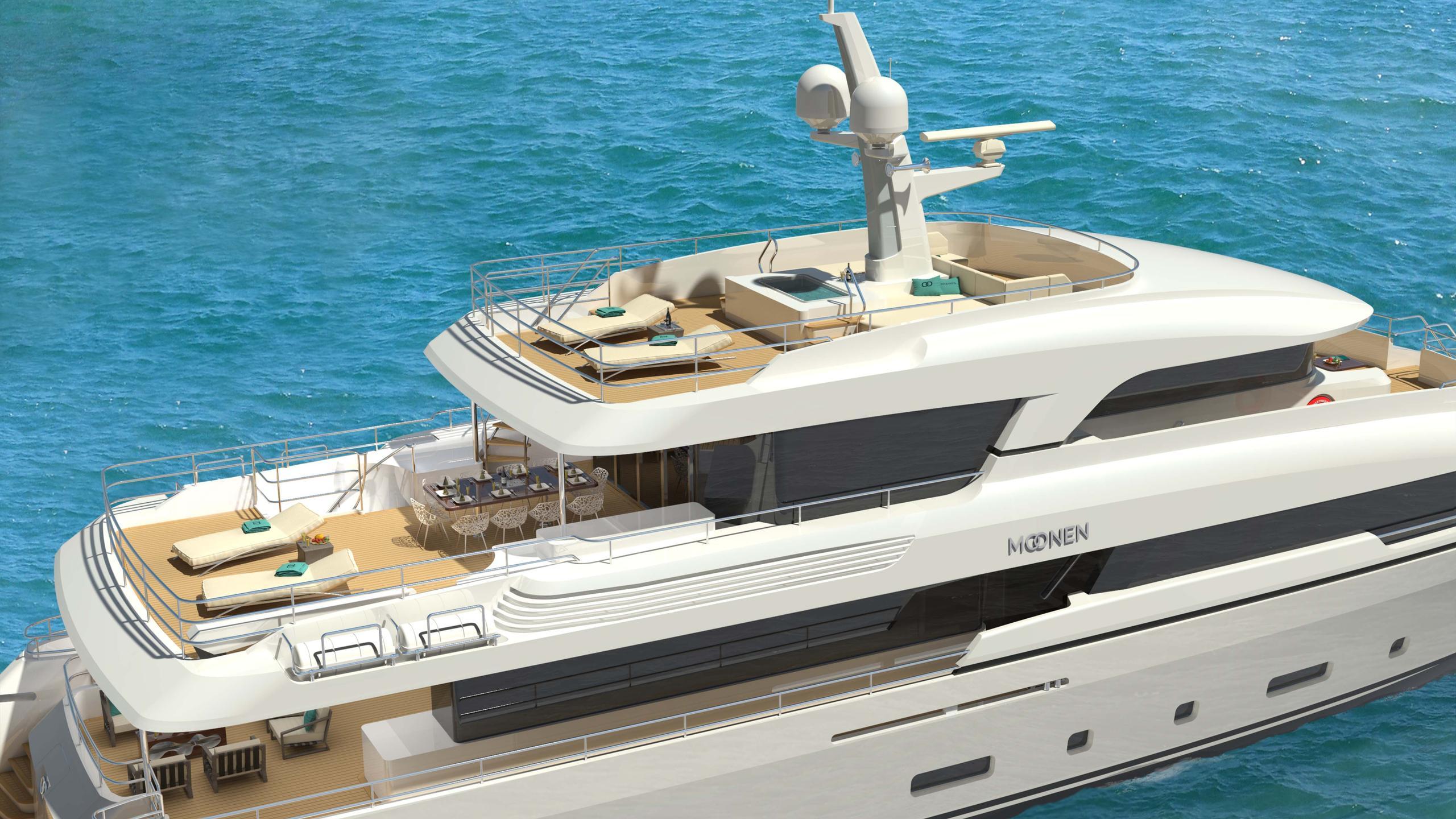 martinique motoryacht moonen 2018 36m rendering aerial decks