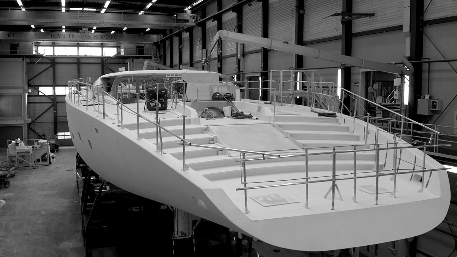 ngoni sailing yacht royal huisman 58m 2017 under construction