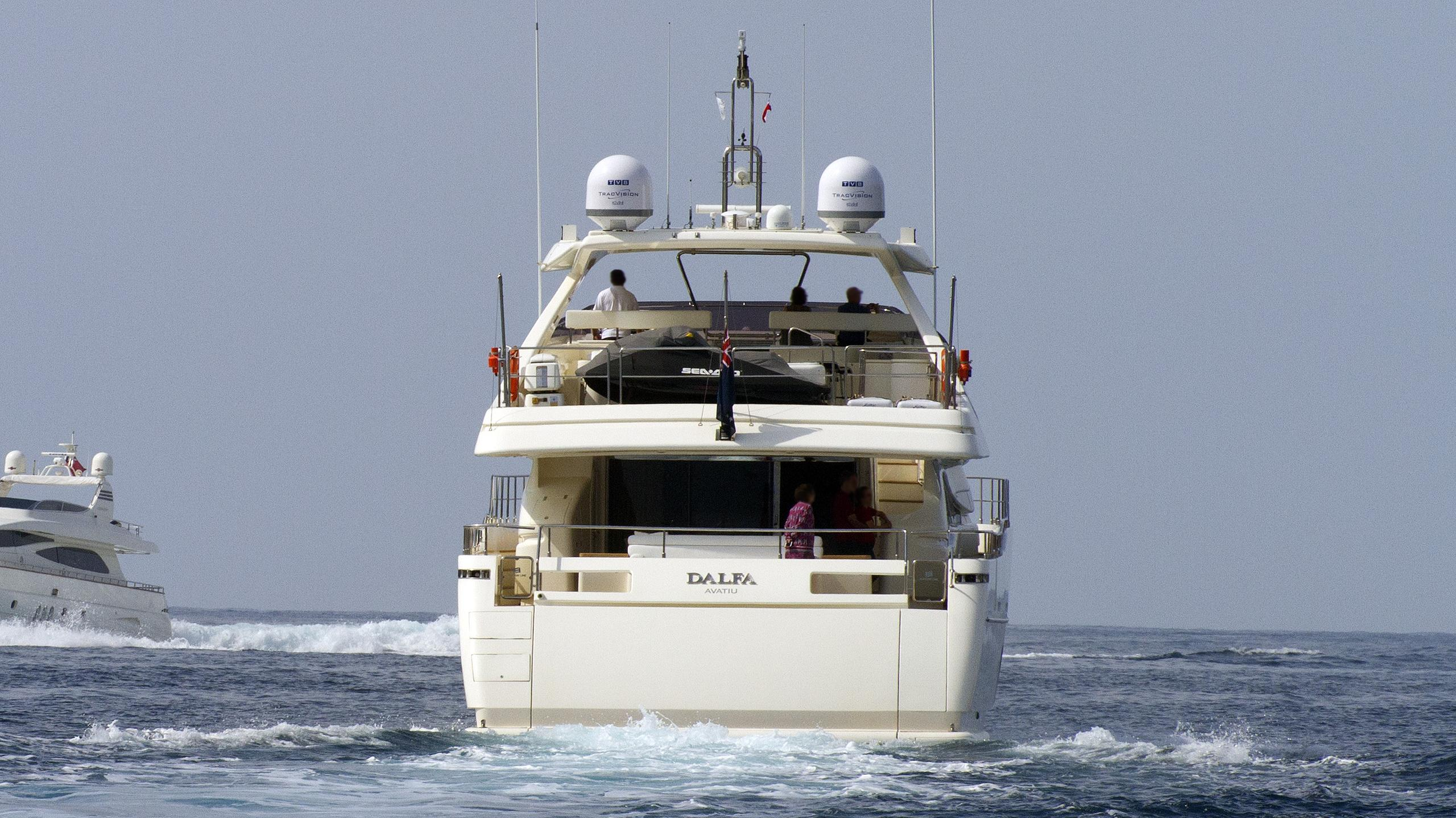 the capital dalfa motor yacht custom line 97 ferretti 2008 29m running stern