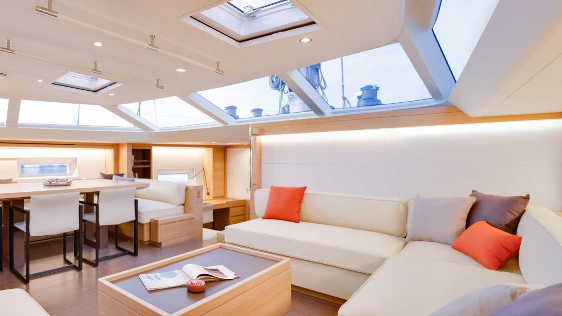 crossbow sailing yacht southern wind shipyard sws 102 2016 32m lounge corner