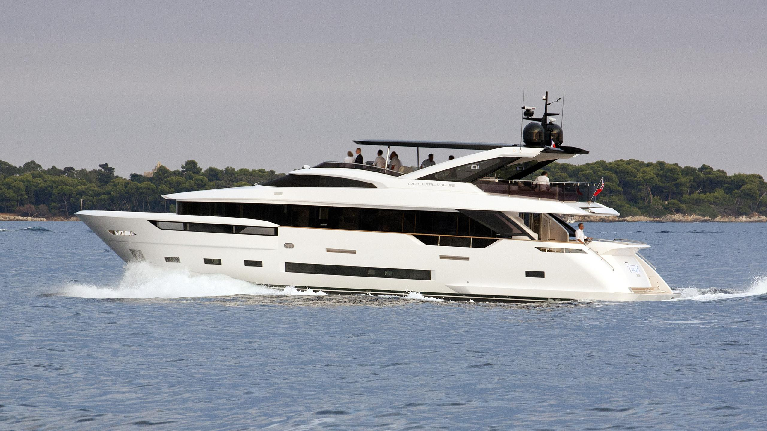 7 seconds motor yacht dl dreamline 2015 26m running profile