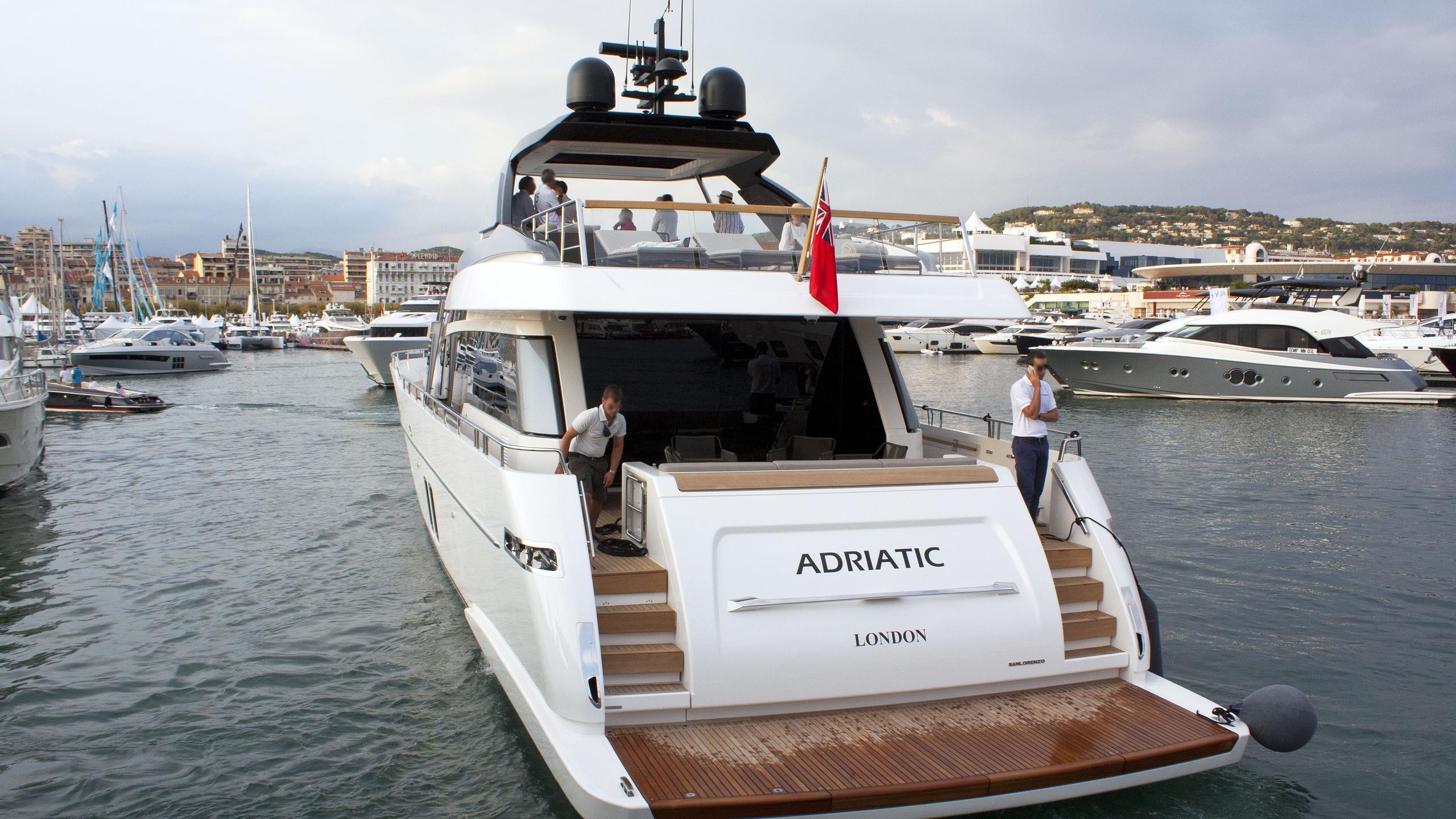 adriatic motor yacht sanlorenzo sl 86 2015 27m stern
