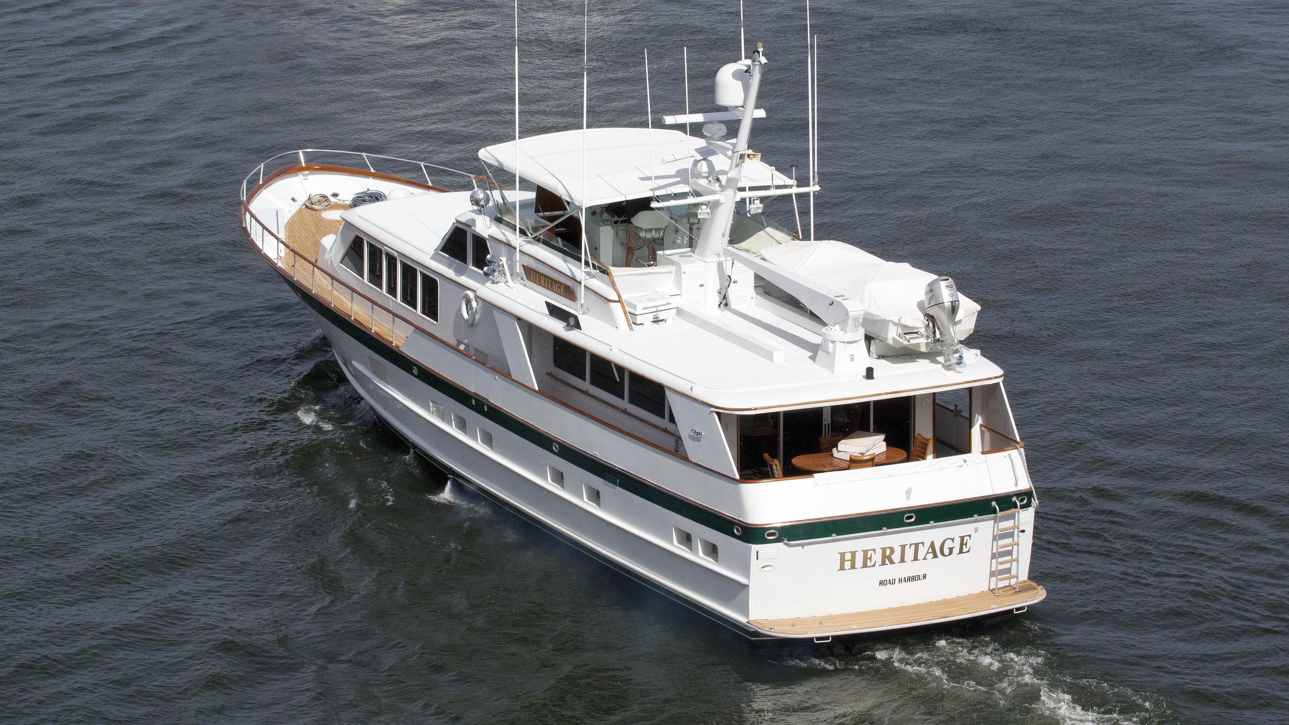 heritage motoryacht burger boat 1987 27m stern