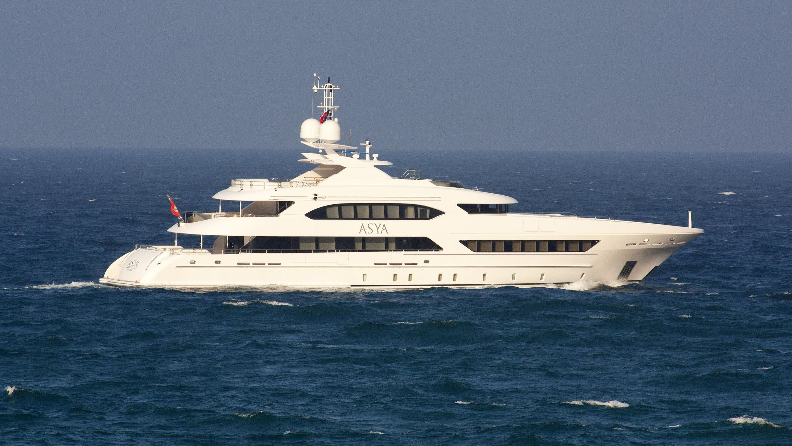 asya motoryacht heesen yachts 2015 47m running profile