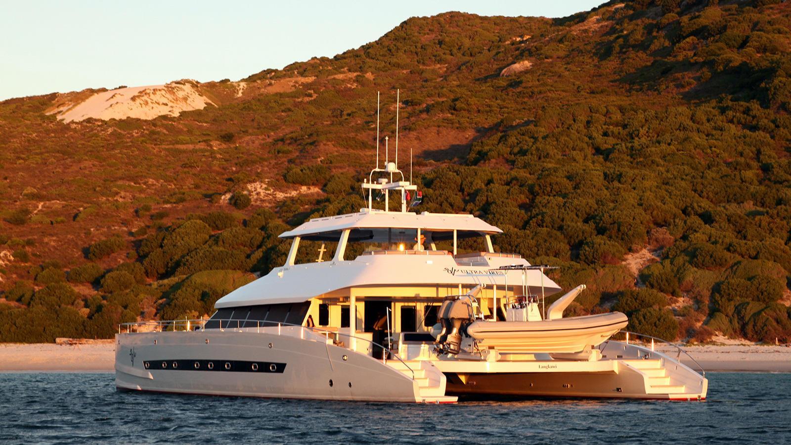 ultra vires catamaran motoryacht two oceans marine 2016 25m half stern