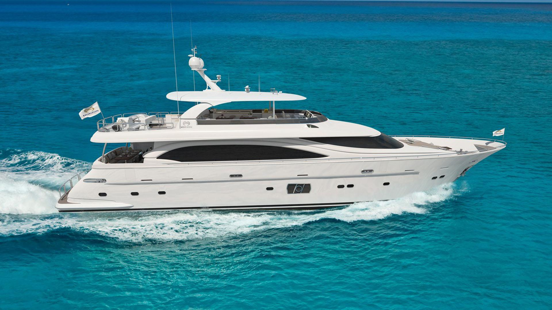 do it now motoryacht horizon e98 2017 30m profile rendering