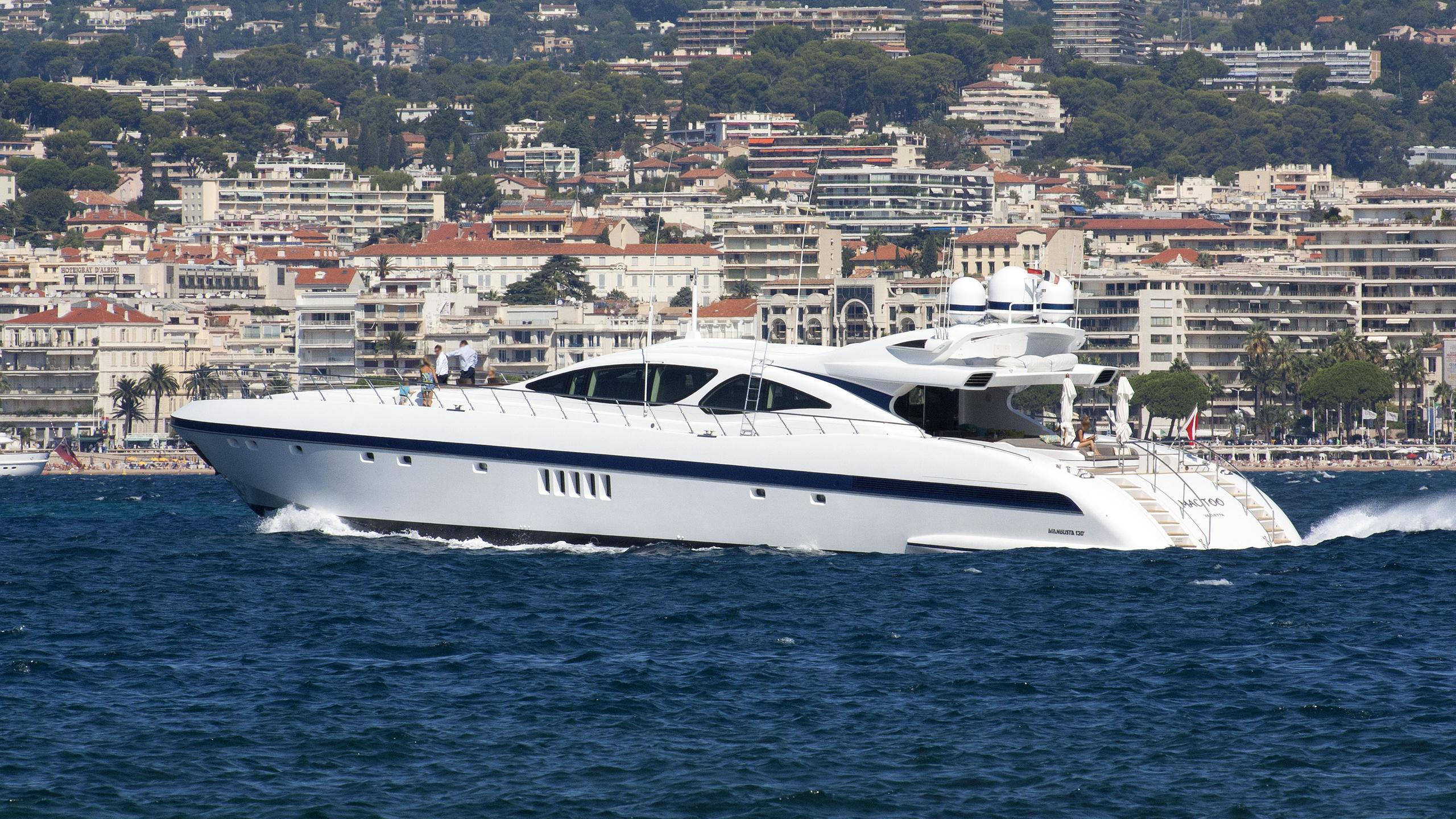 mac too motoryacht overmarine mangusta 130 2008 40m cruising profile