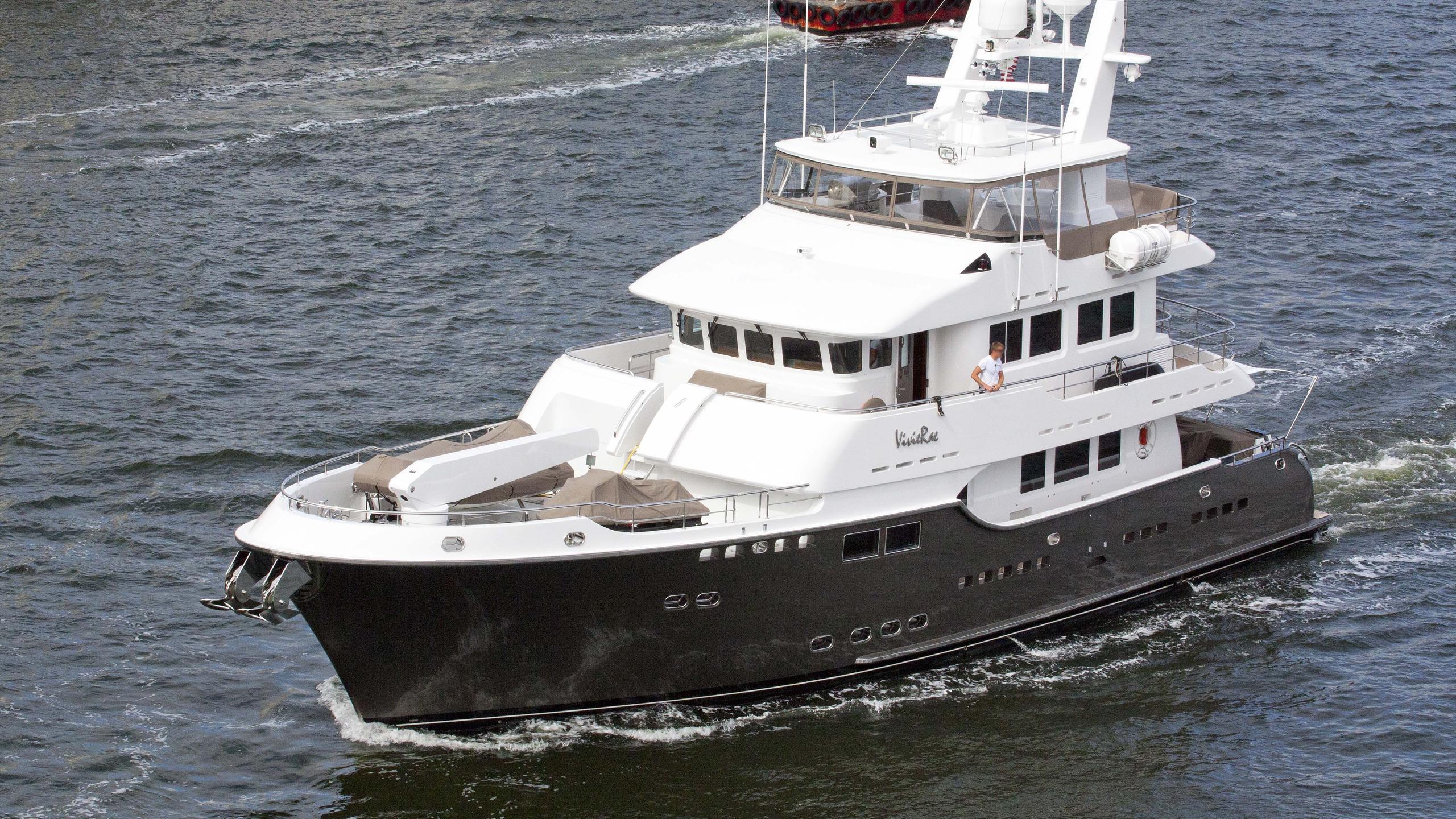 vivirae explorer yacht nordhavn 2007 27m half profile