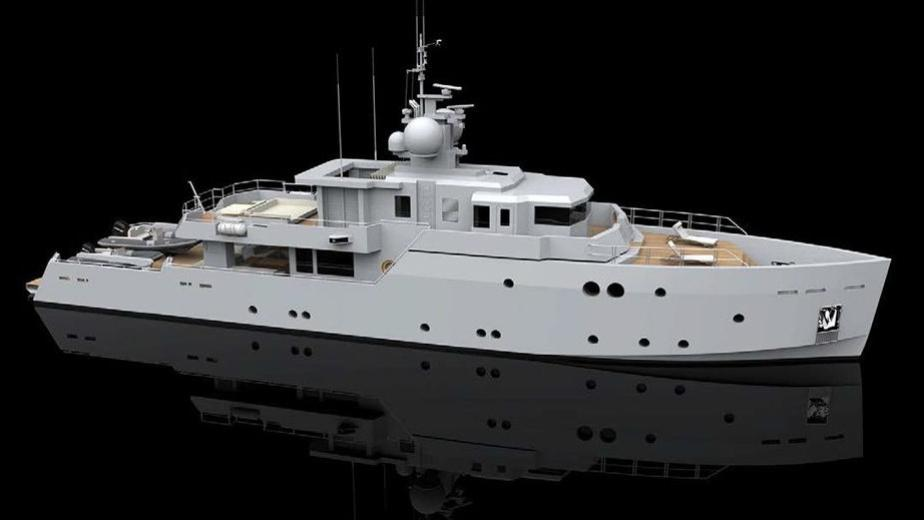 sexy fish motoryacht tansu yachts 2016 39m profile rendering