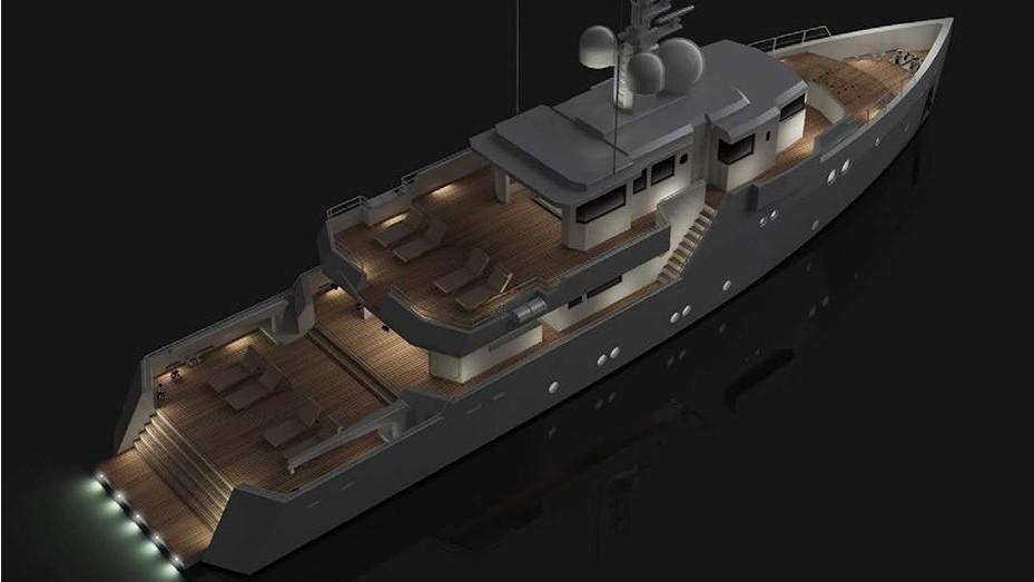 sexy fish motoryacht tansu yachts 2016 39m half stern rendering
