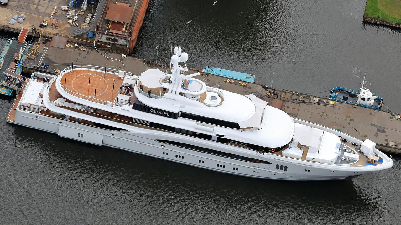 global kismet motor yacht lurssen 2007 74m aerial after second refit