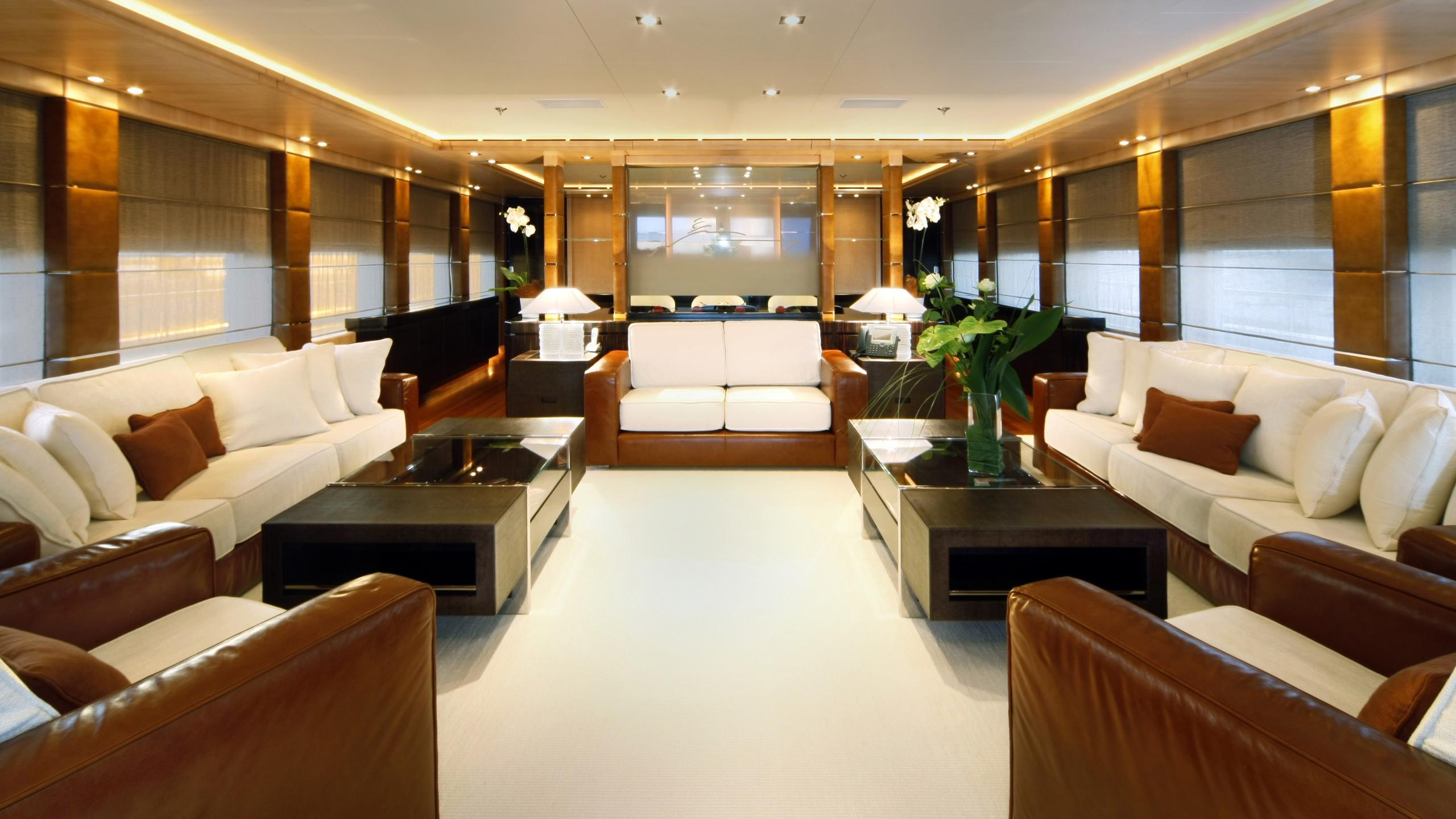 Alexandar V yacht main saloon