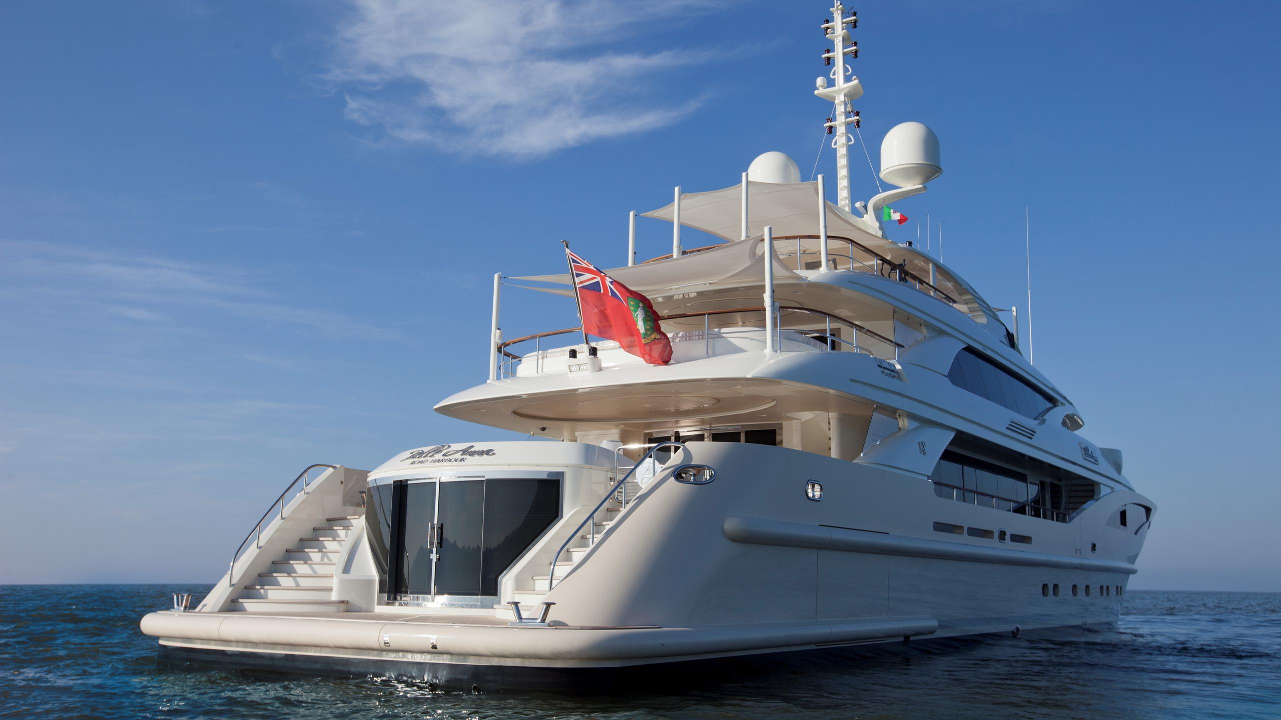 Belle Anna yacht stern