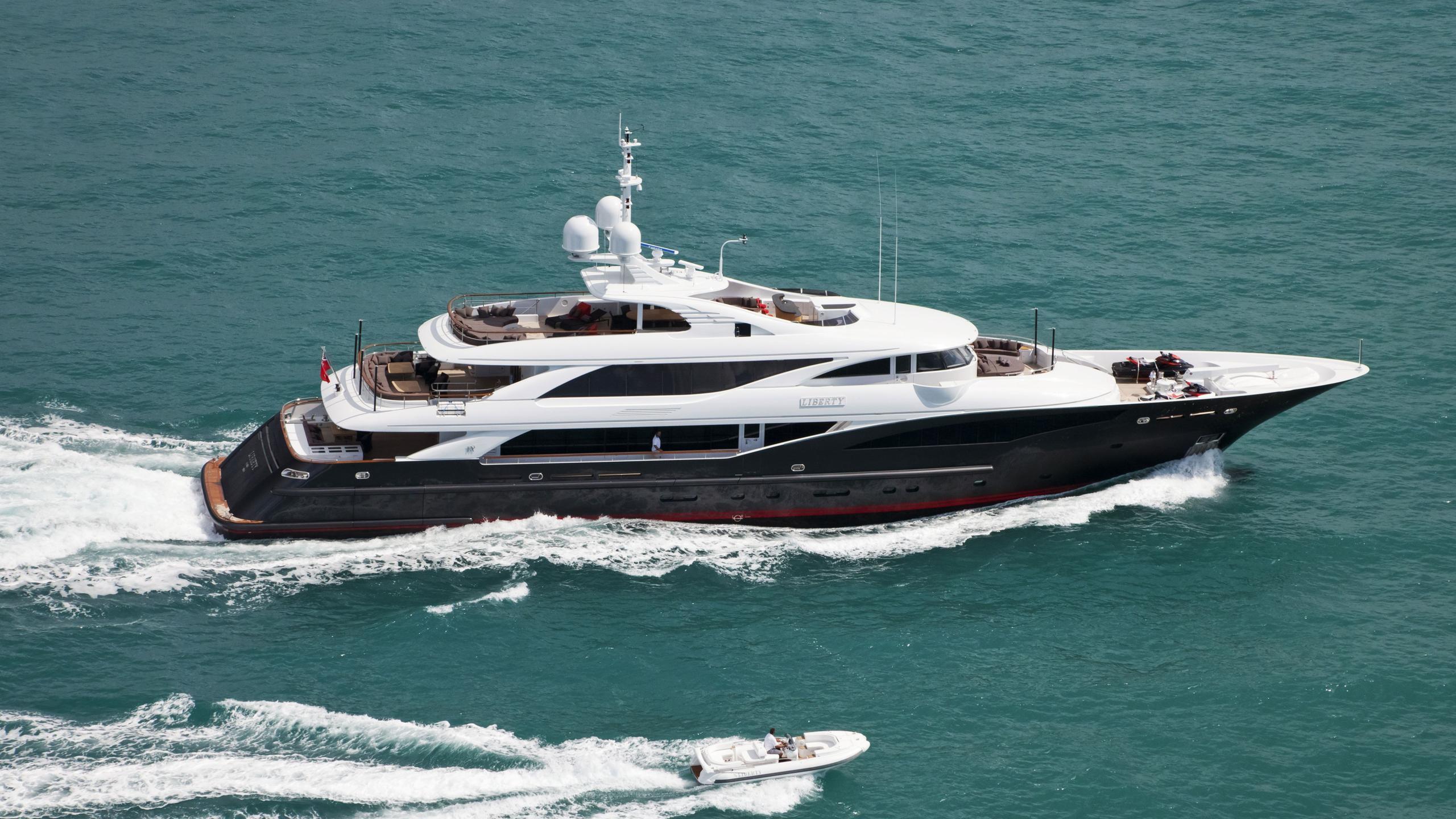 Liberty yacht running