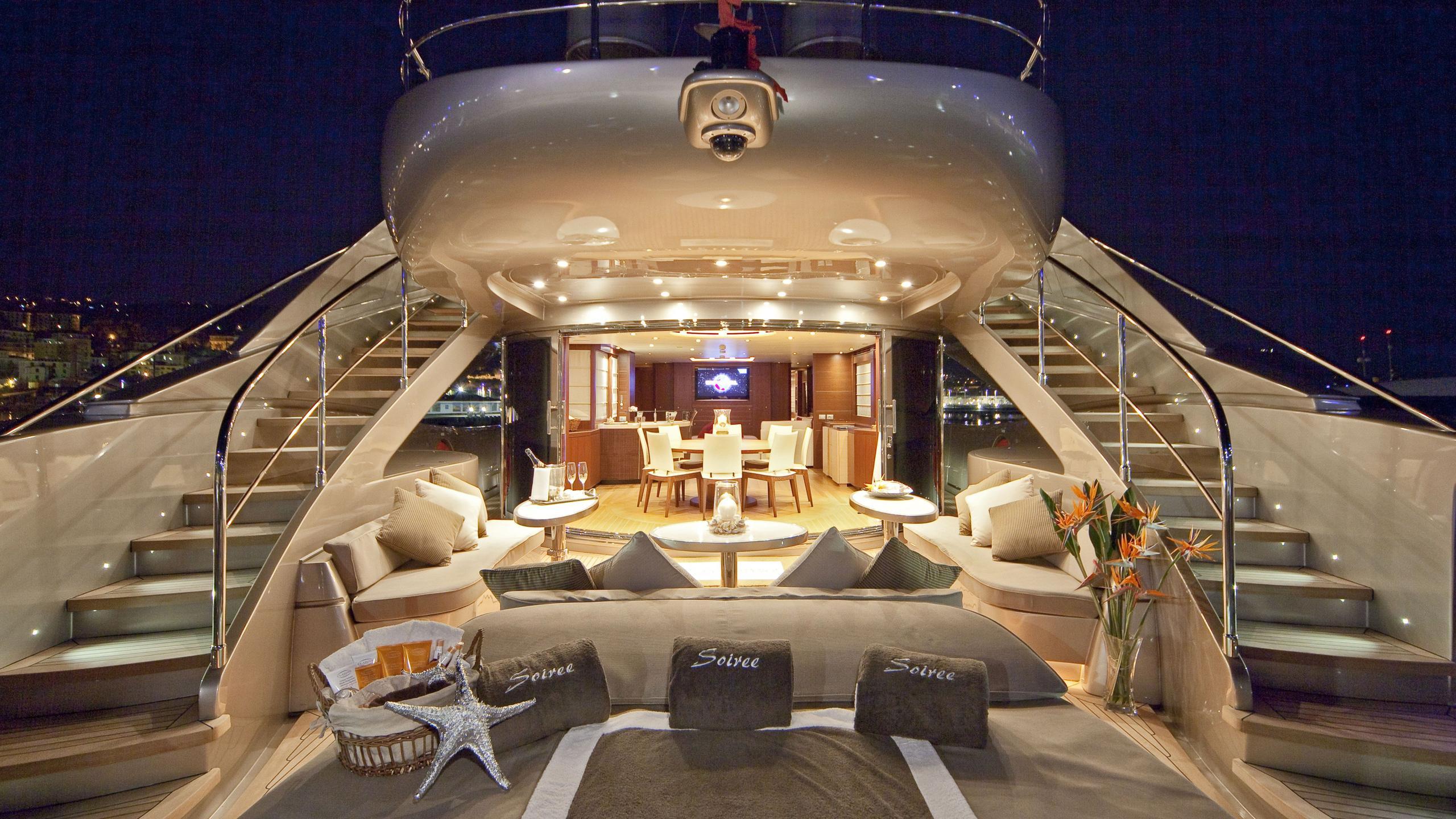Soiree yacht aft deck