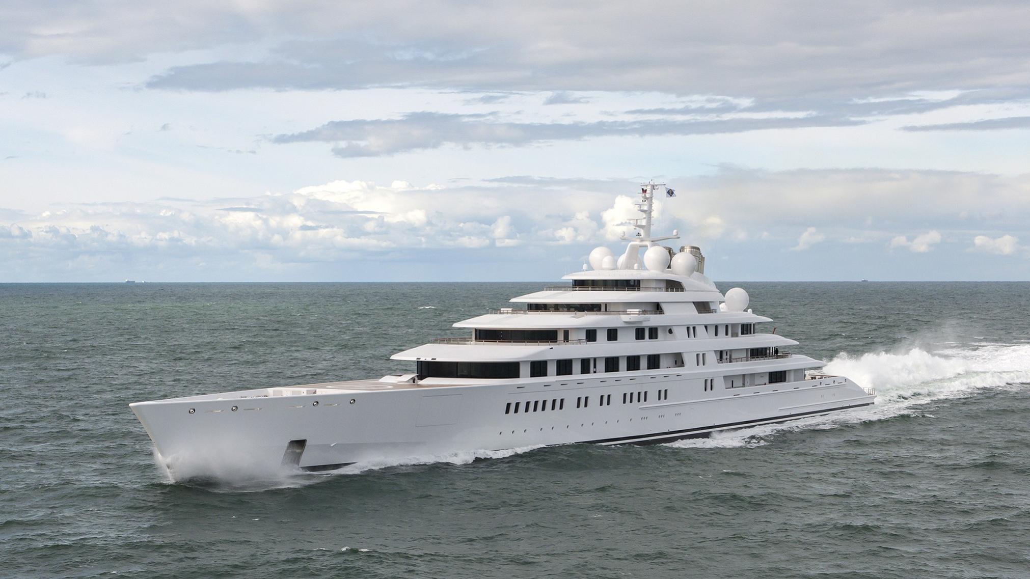 Azzam yacht running