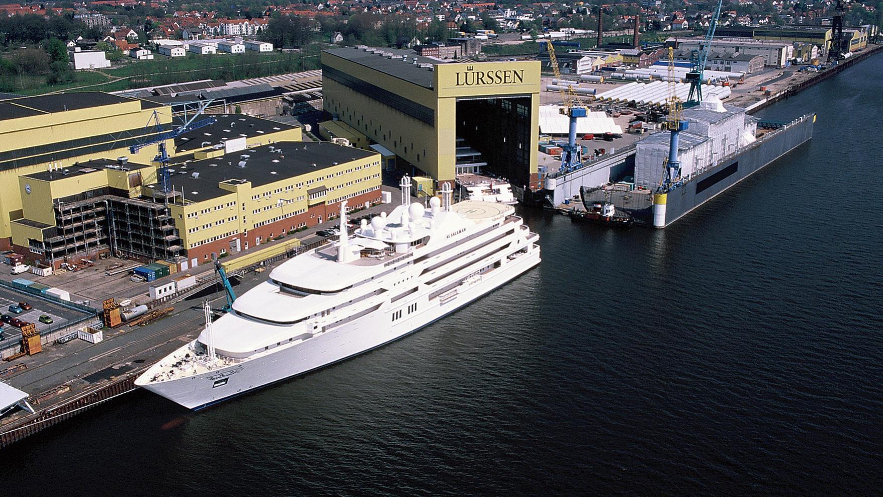 Al Salamah yacht at Lurssen shipyard