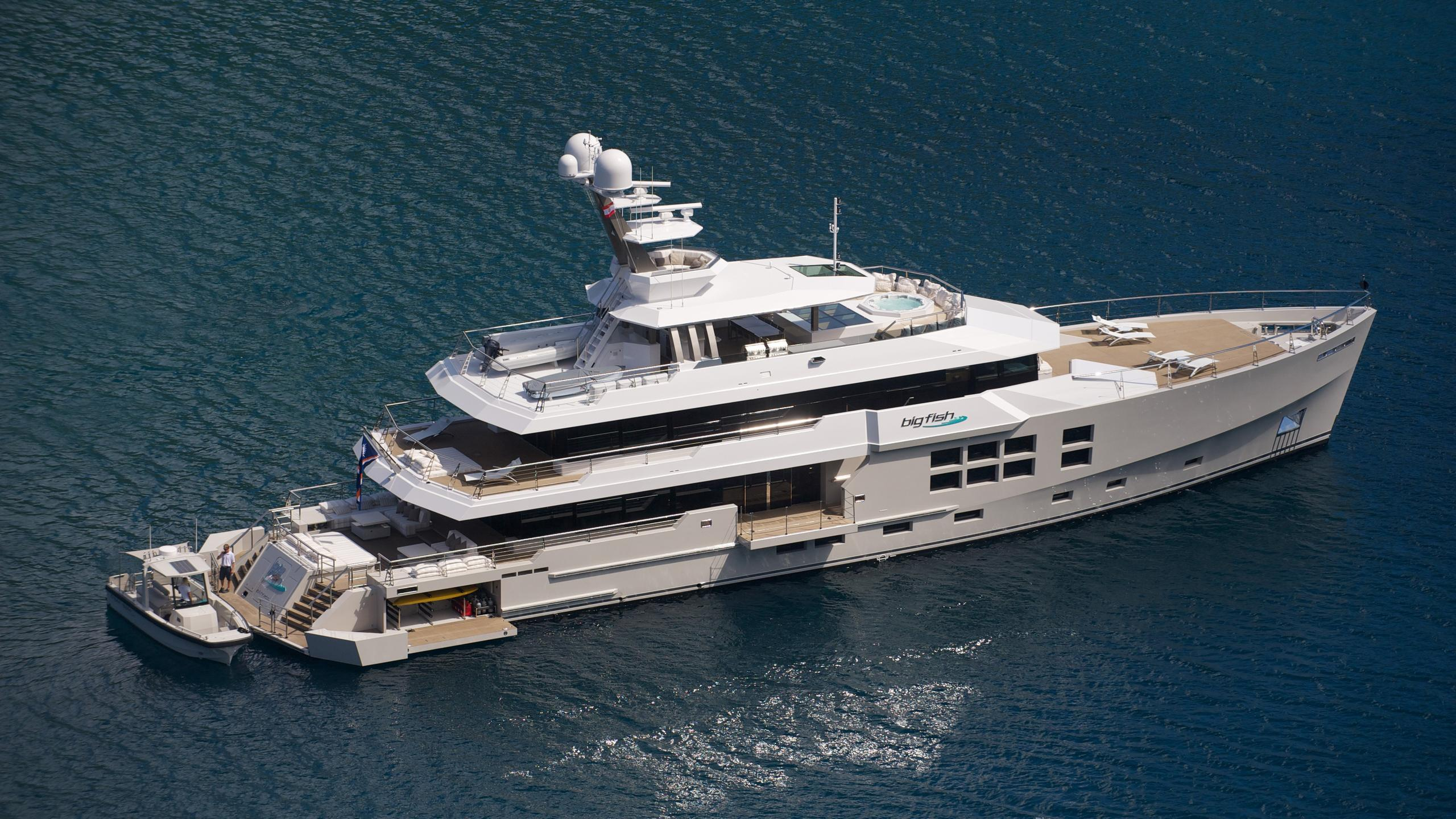 Big fish yacht exterior