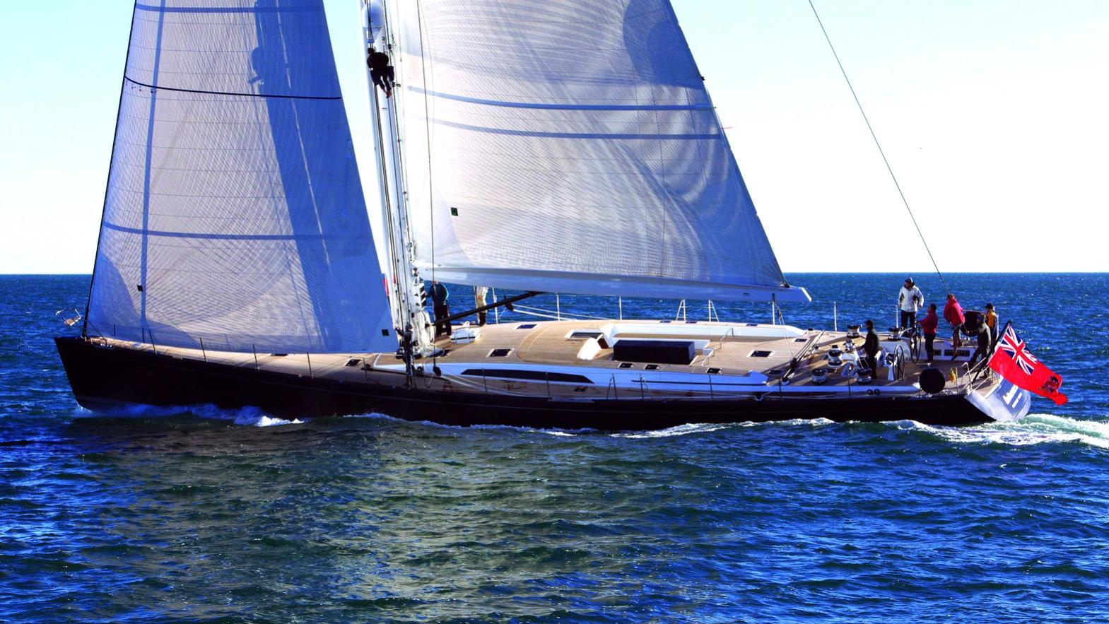 Blues sailing yacht