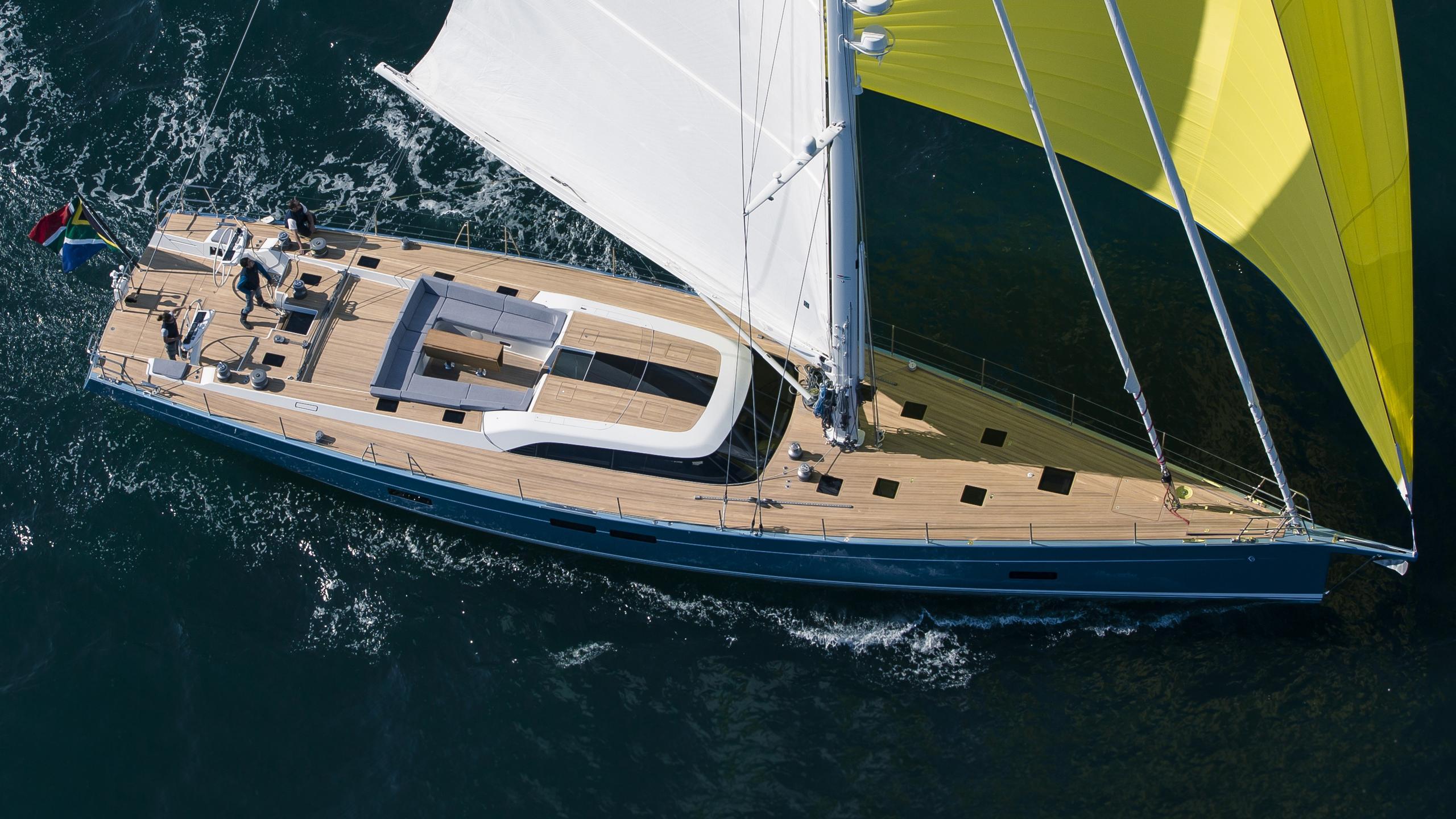 Feelin good sailing yacht aerial