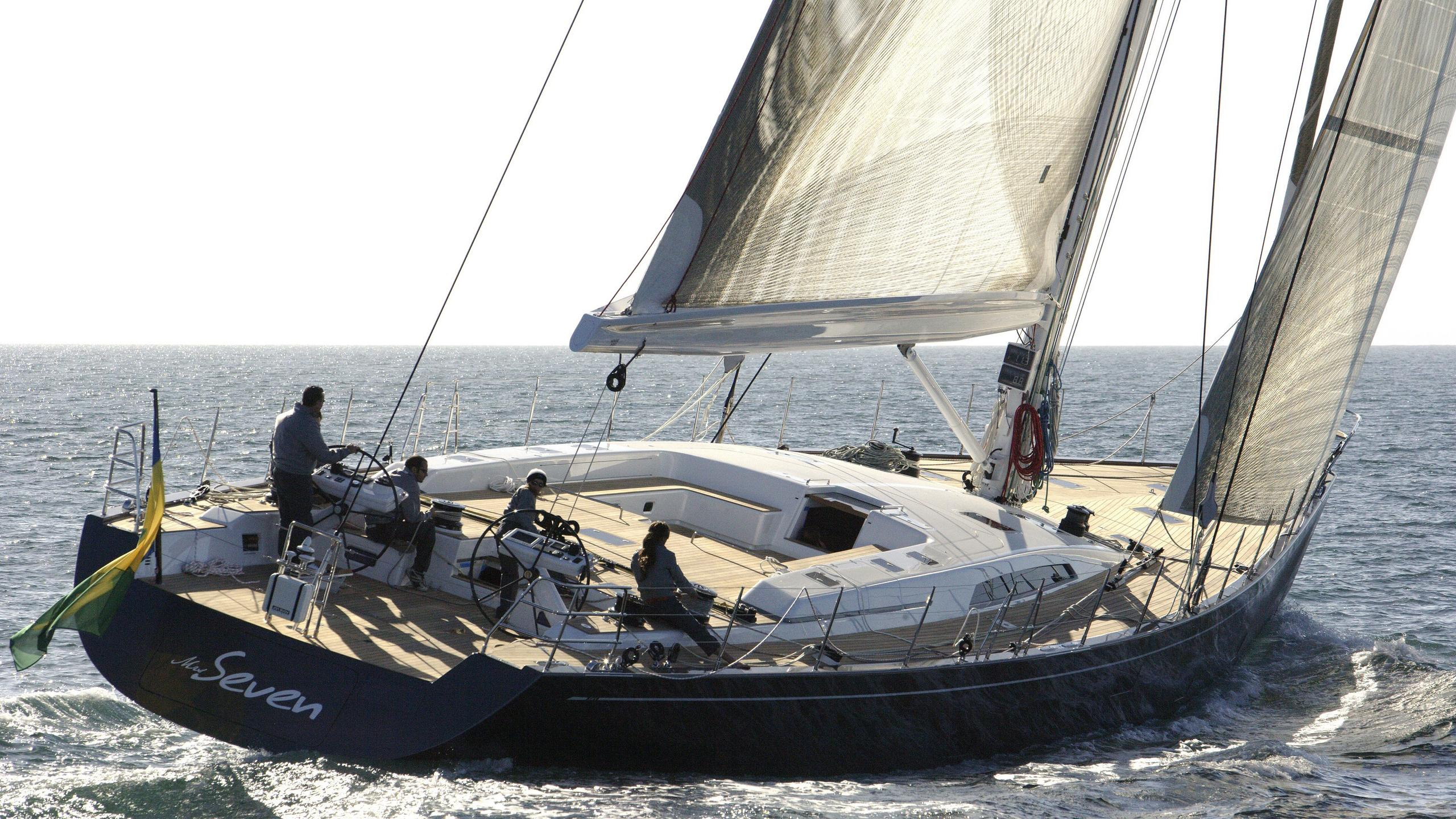 Ms Seven sailing yacht running aft