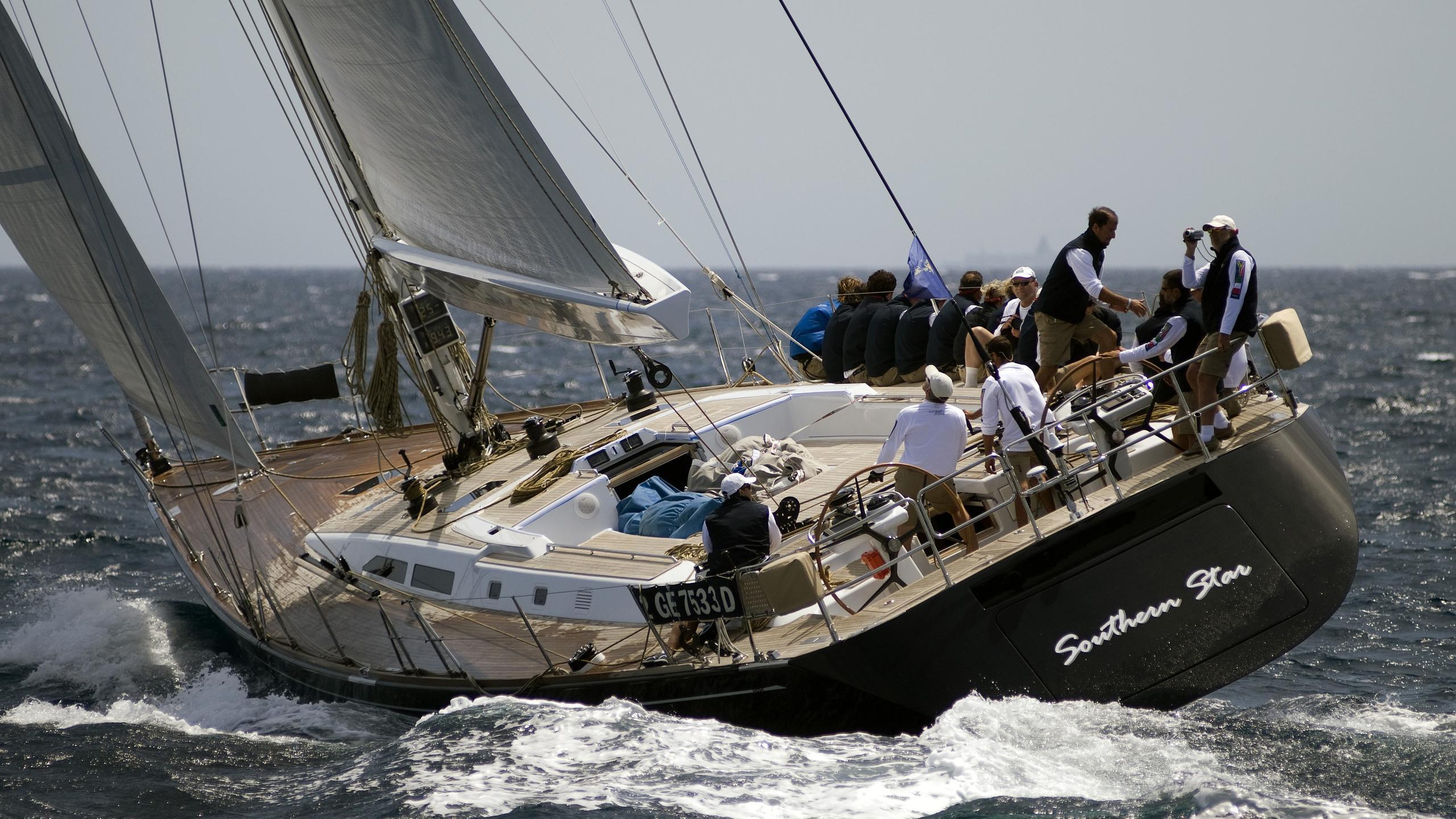 Southern Star sailing yacht running aft