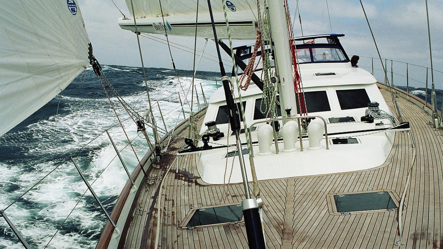 Wavelength sailing yacht deck